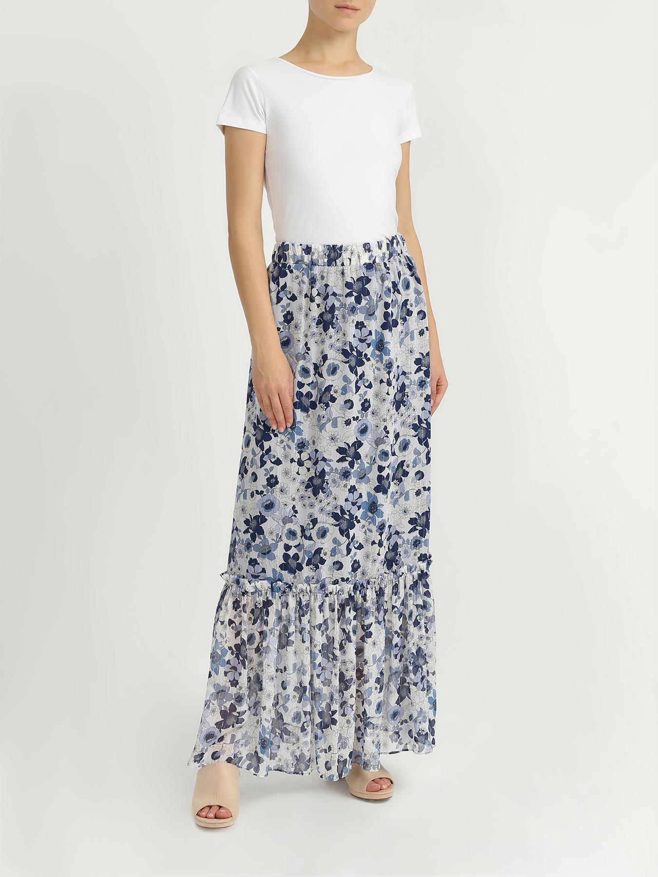 Юбка My Twin Twinset Длинная юбка с цветочными узорами twin set lingerie длинная юбка
