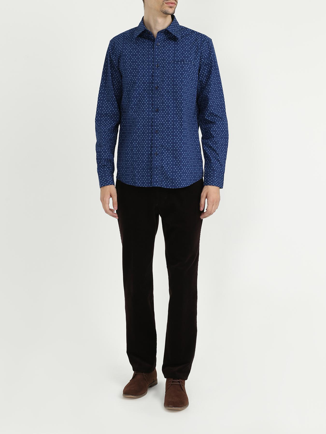 Рубашка Ritter Jeans Рубашка с длинным рукавом рубашка с длинным рукавом для деловых людей весенняя осень твердый цвет silm fit