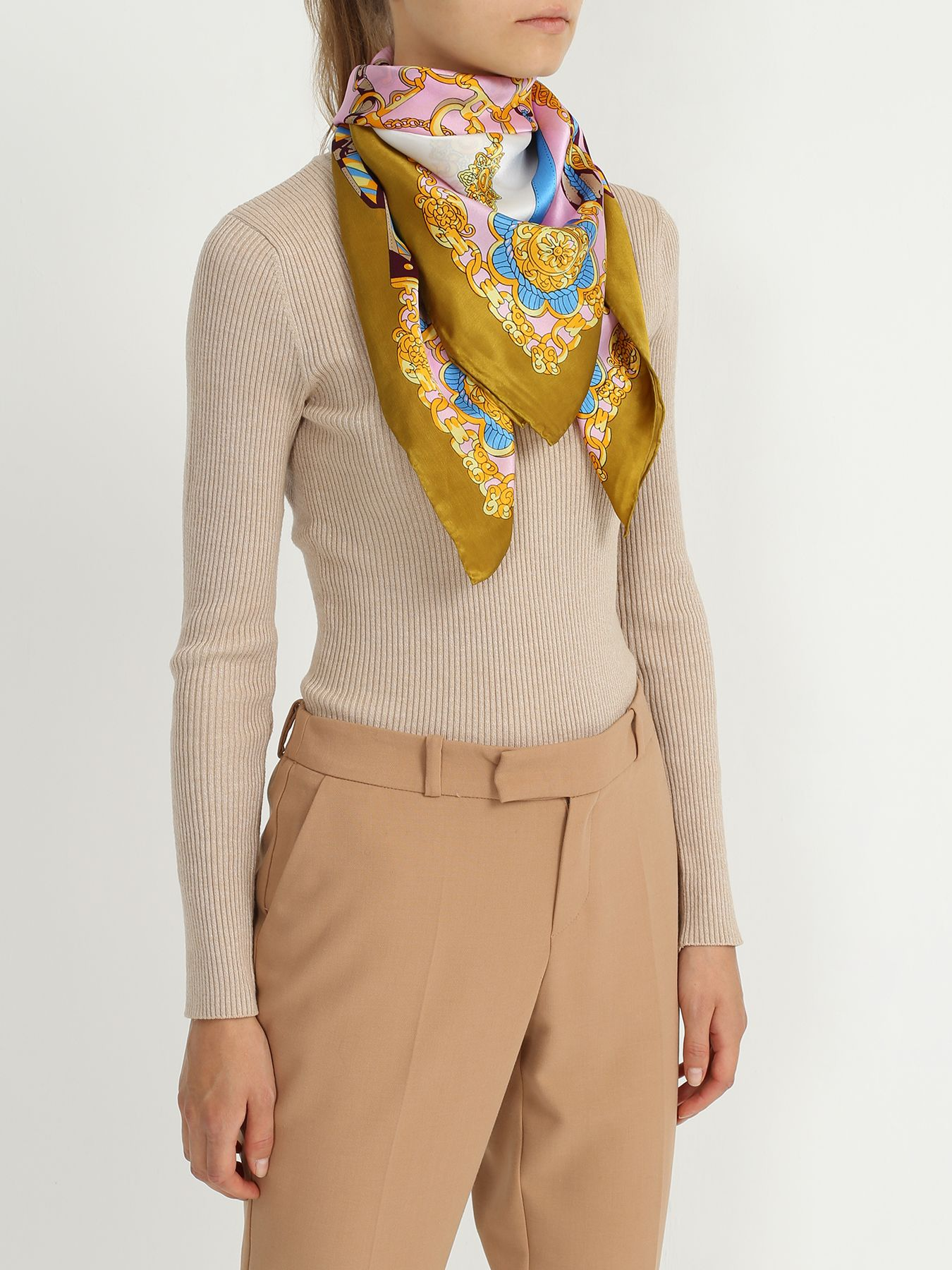 Платок ORSA Couture Платок с яркими узорами платок le motif couture le motif couture mp002xw1aegu