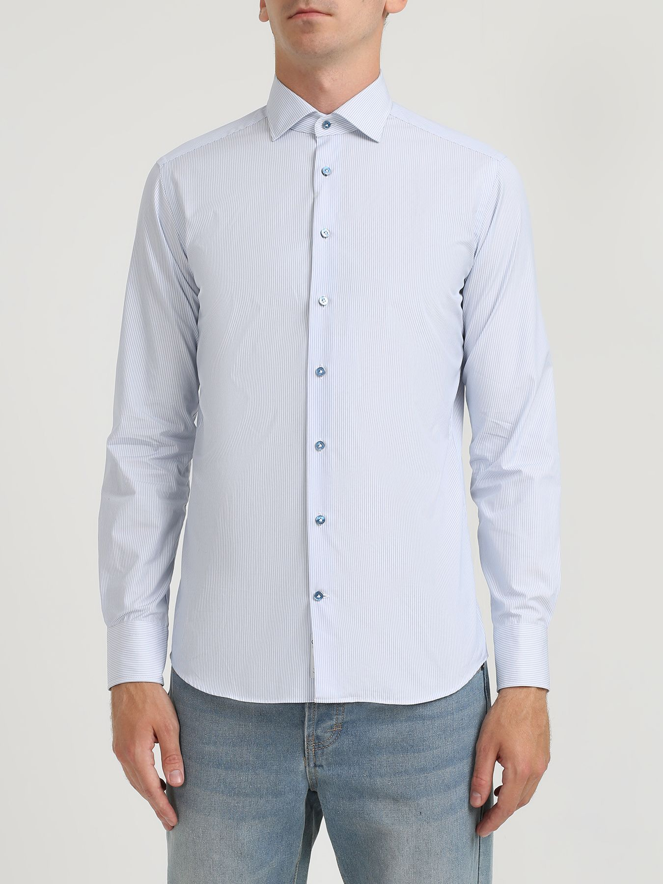 ночная рубашка с принтом в полоску Рубашки Korpo Хлопковая рубашка в полоску