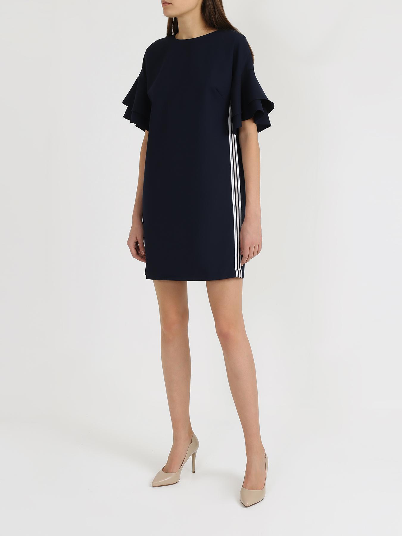 Платье 6 P.M. Платье с полосками по бокам шар матовый серебряный с черными полосками 6 см 6 шт