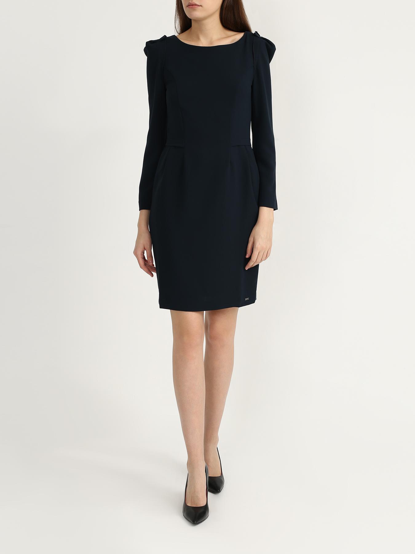 Платье Armani Exchange Однотонное платье платье прямое средней длины однотонное без рукавов