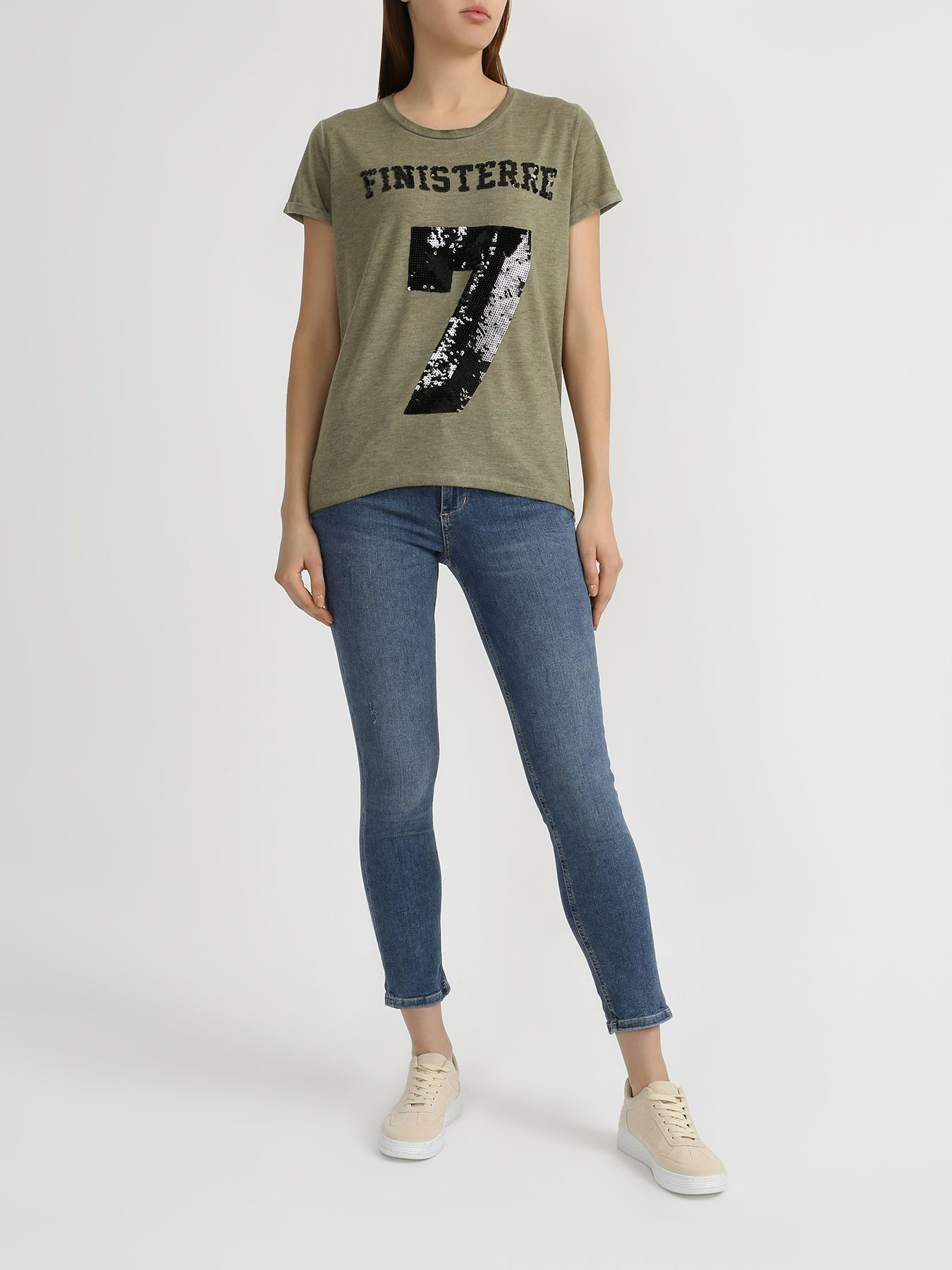 Джемпер Finisterre Женская футболка с пайетками ostin джемпер с пайетками