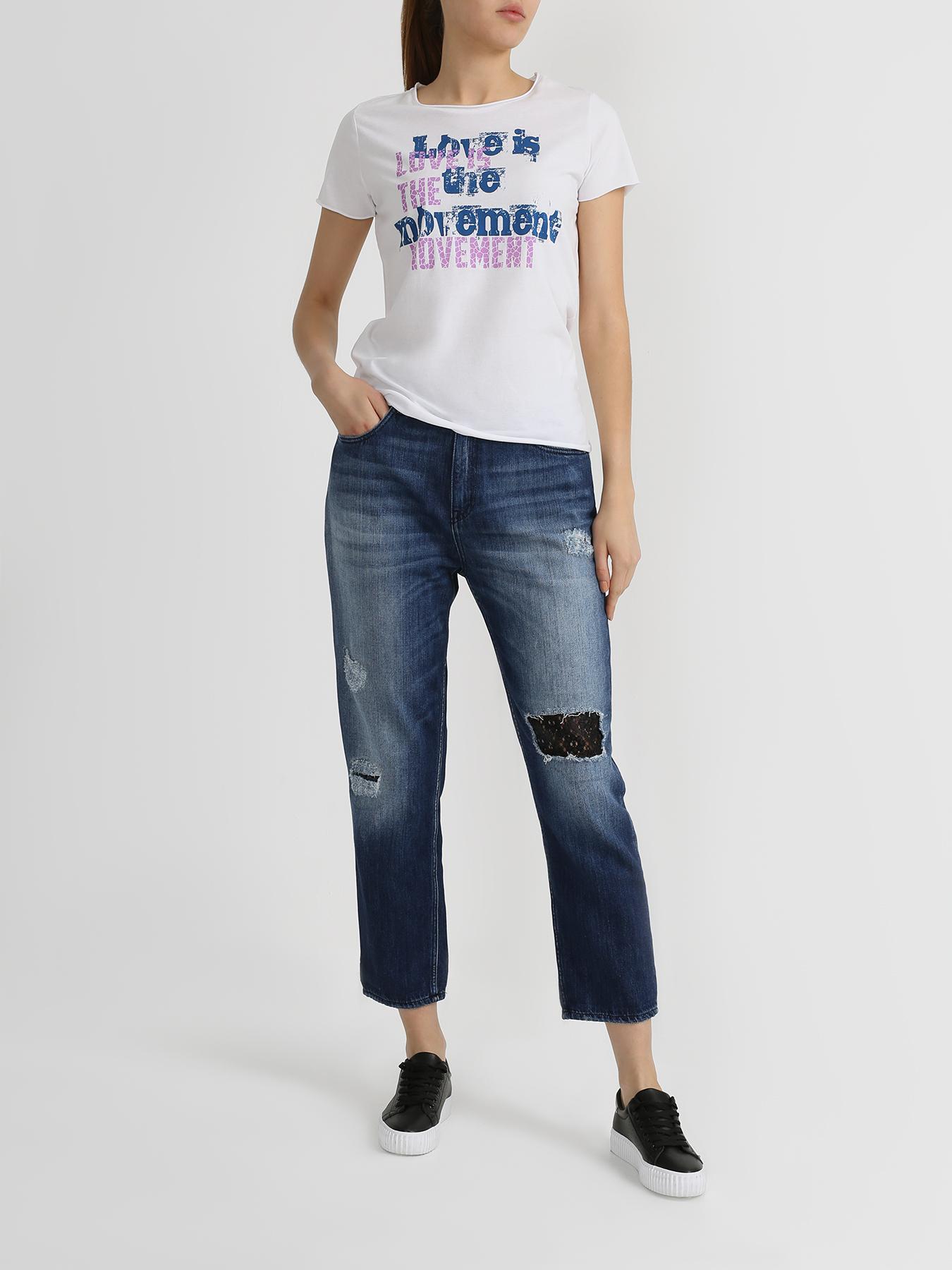 Брюки Love Moschino Рваные джинсы