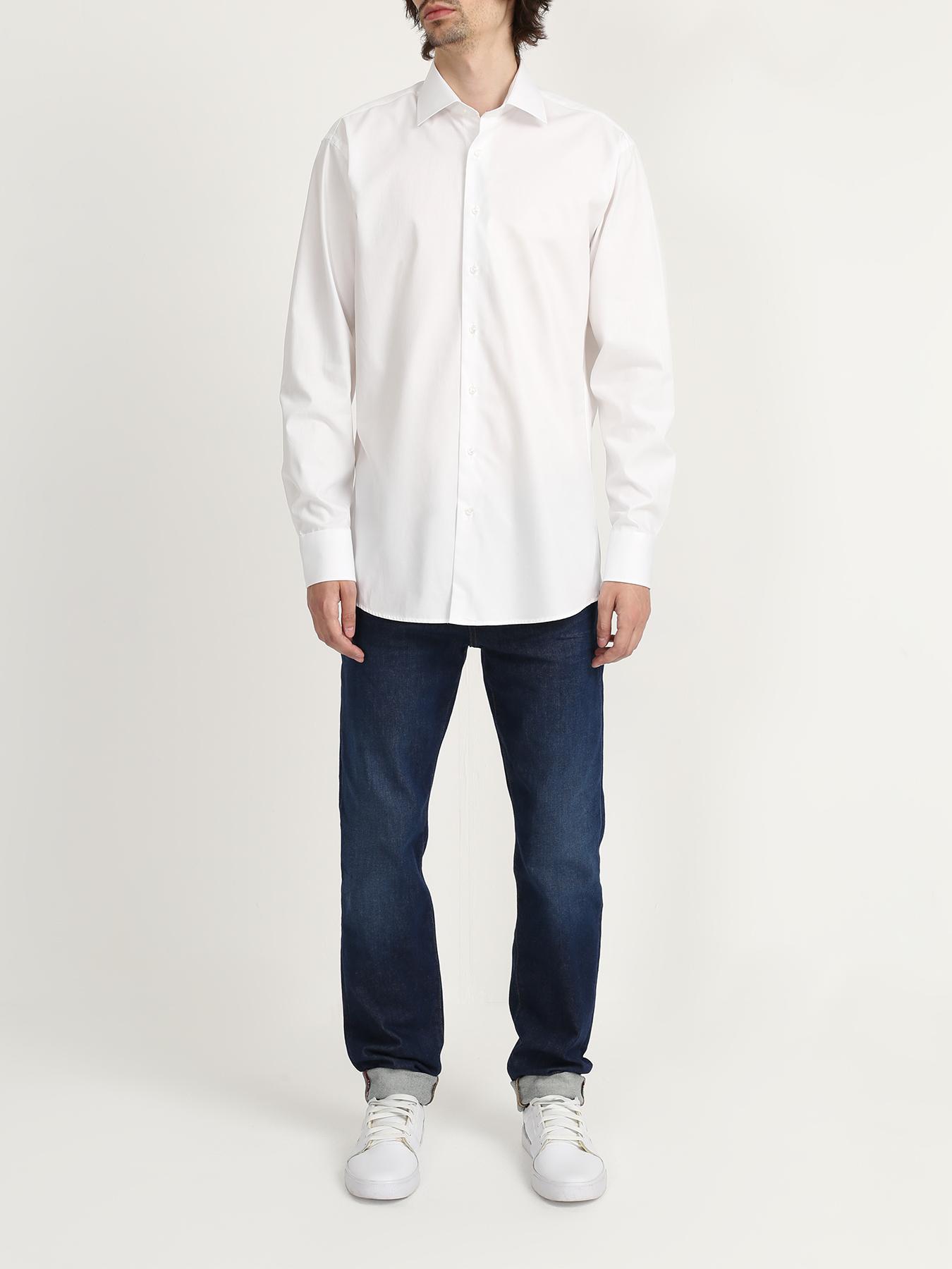 Рубашка Ritter Хлопковая рубашка с длинным рукавом рубашка с длинным рукавом для деловых людей весенняя осень твердый цвет silm fit