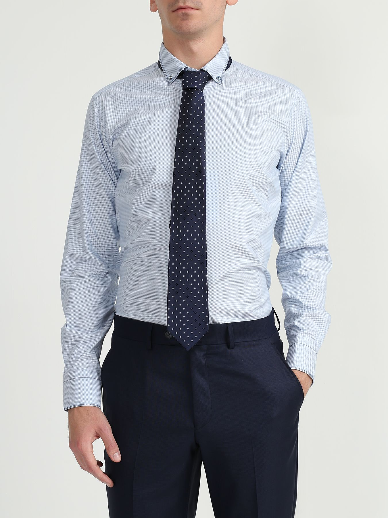 Alessandro Manzoni Шелковый галстук с узорами 324185-185