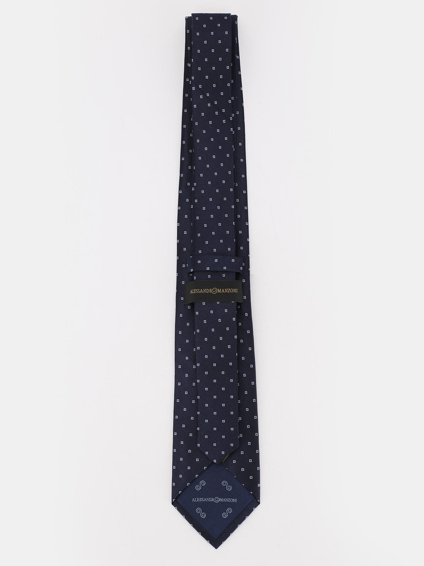 Alessandro Manzoni Шелковый галстук с узорами 324185-185 Фото 2