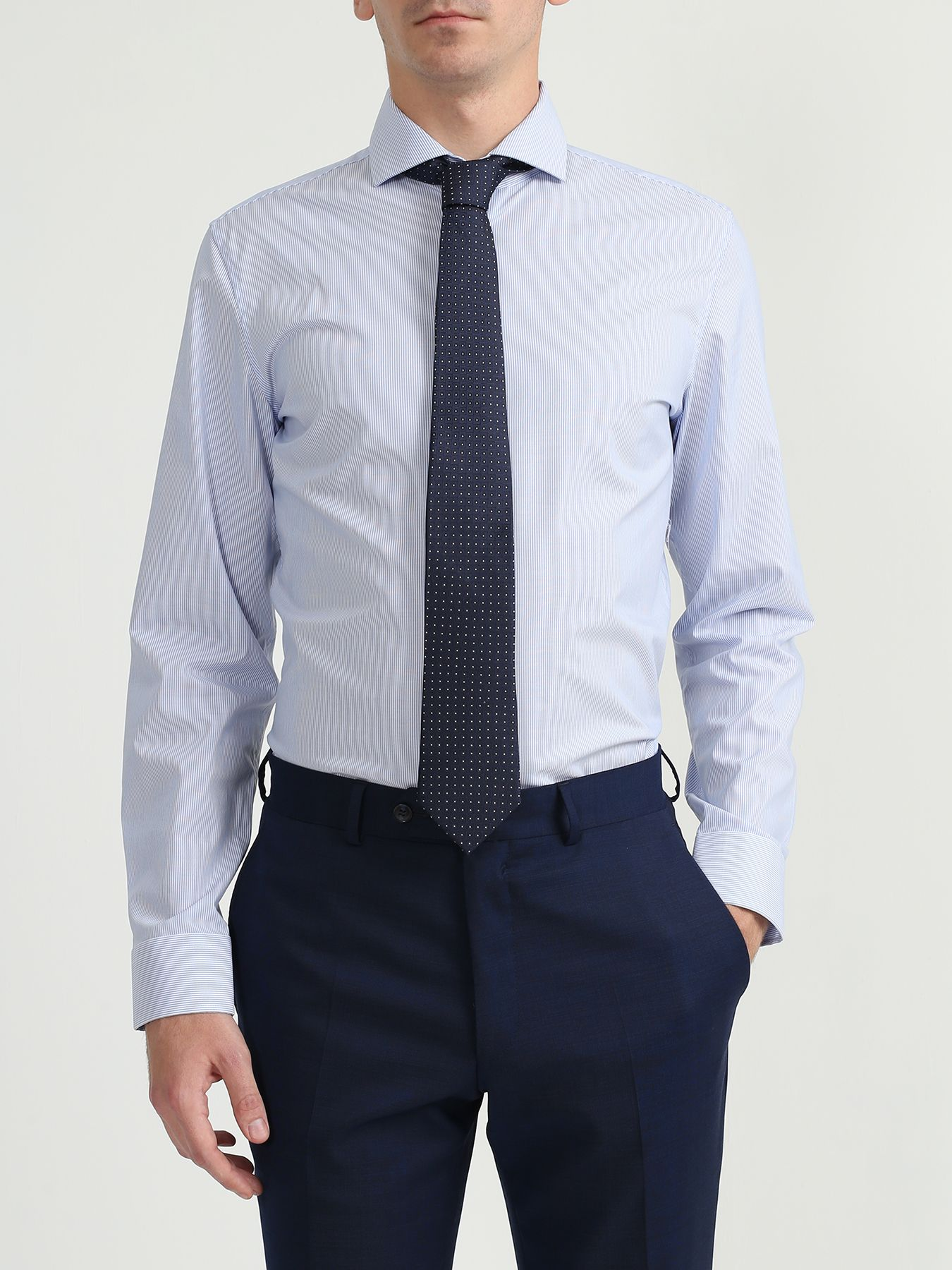 Alessandro Manzoni Шелковый галстук с узорами 324190-185