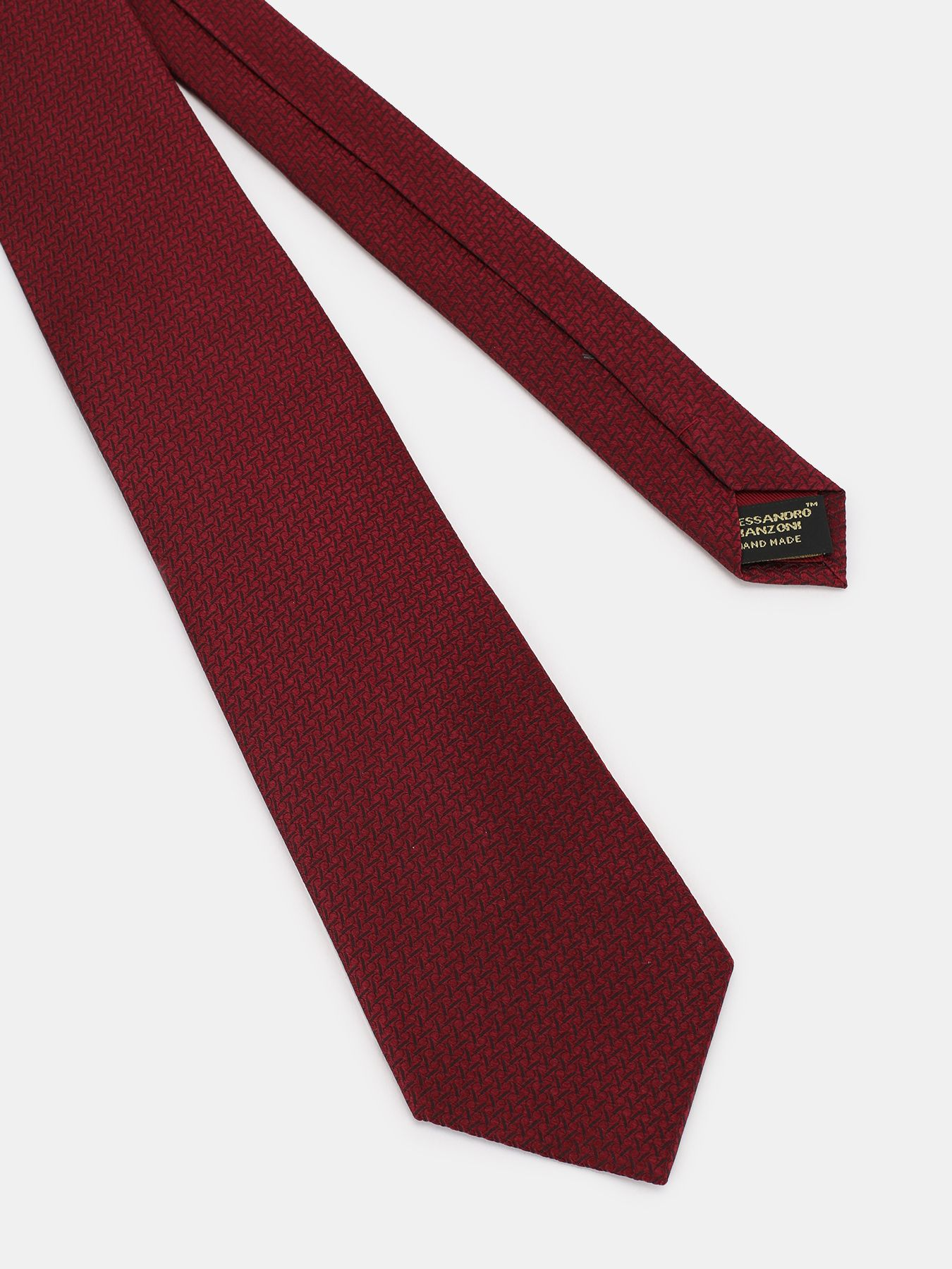 Alessandro Manzoni Шелковый галстук с узорами 324195-185 Фото 3