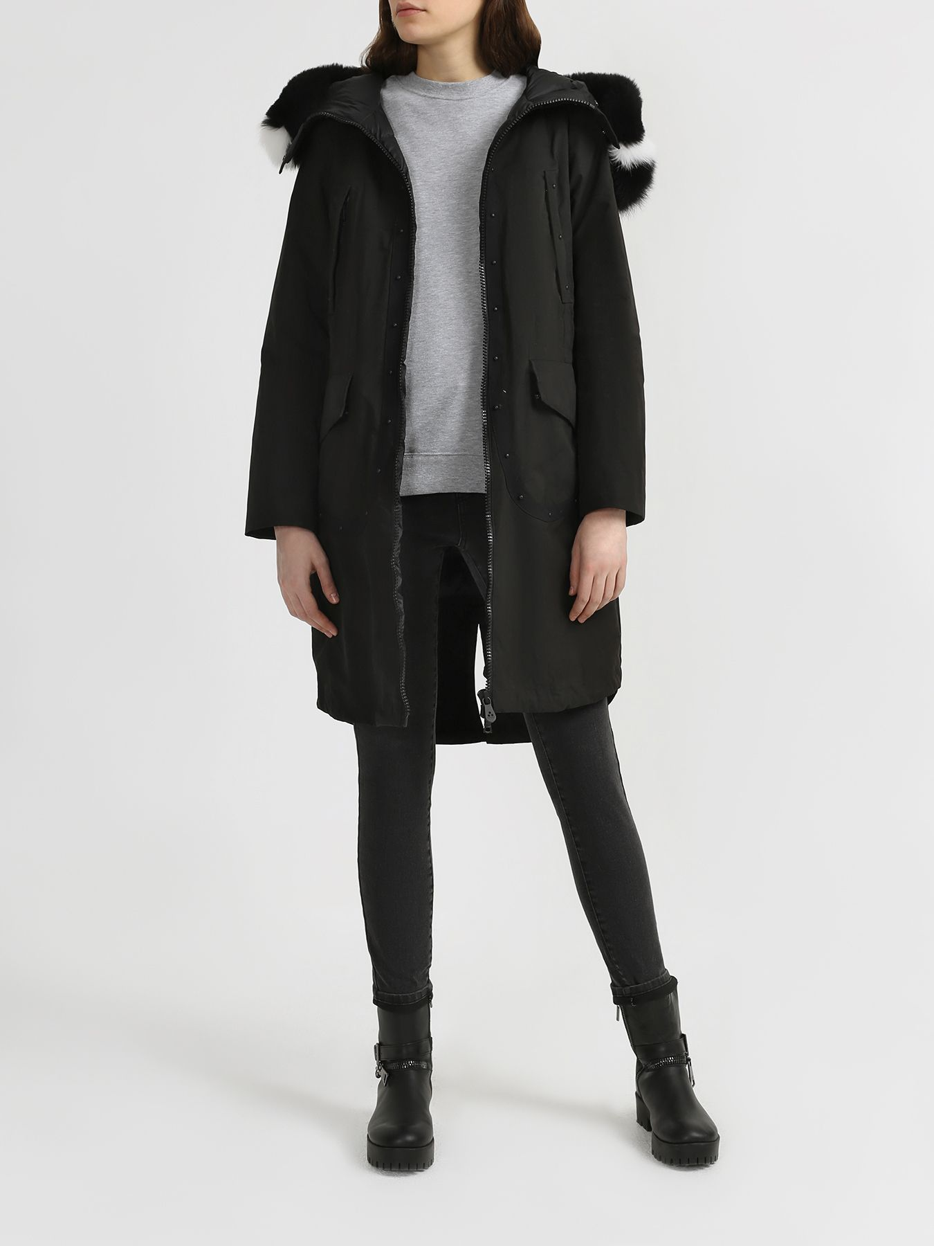 Куртка Peuterey Парка со съемным мехом цена 2017
