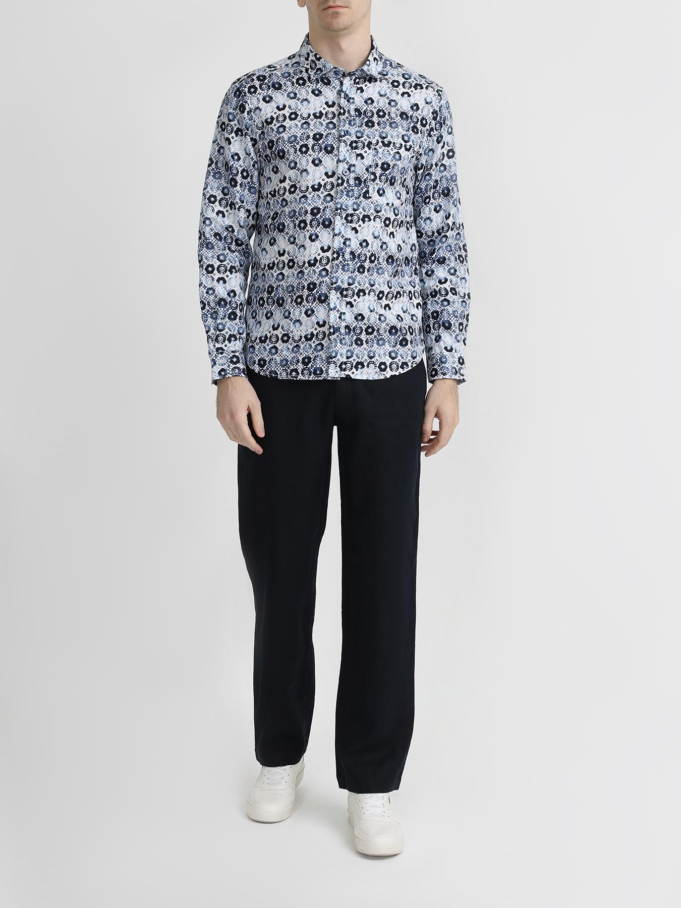 Alessandro Manzoni Jeans Льняная рубашка фото