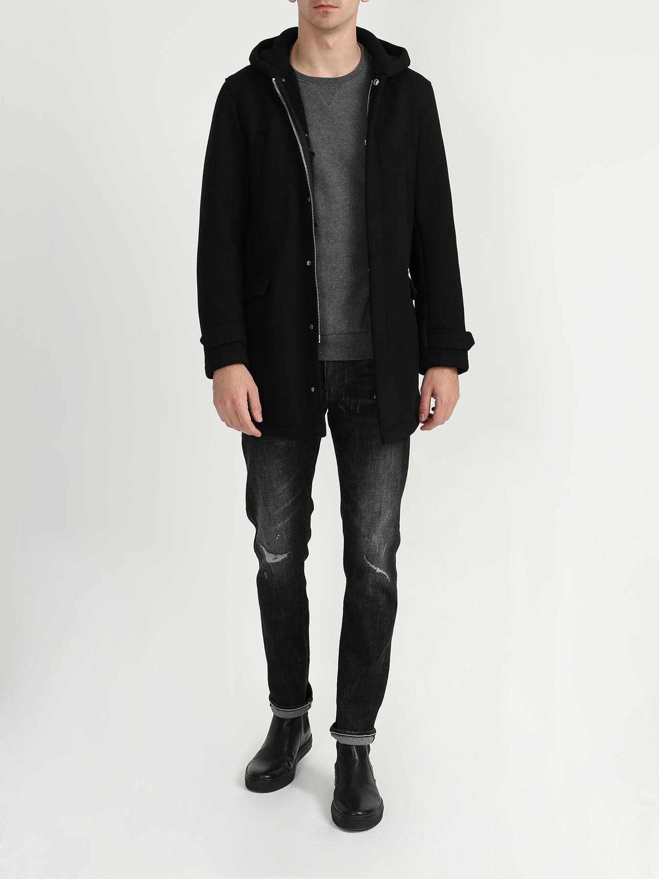 Пальто Emporio Armani Пальто с капюшоном пальто emporio armani черный