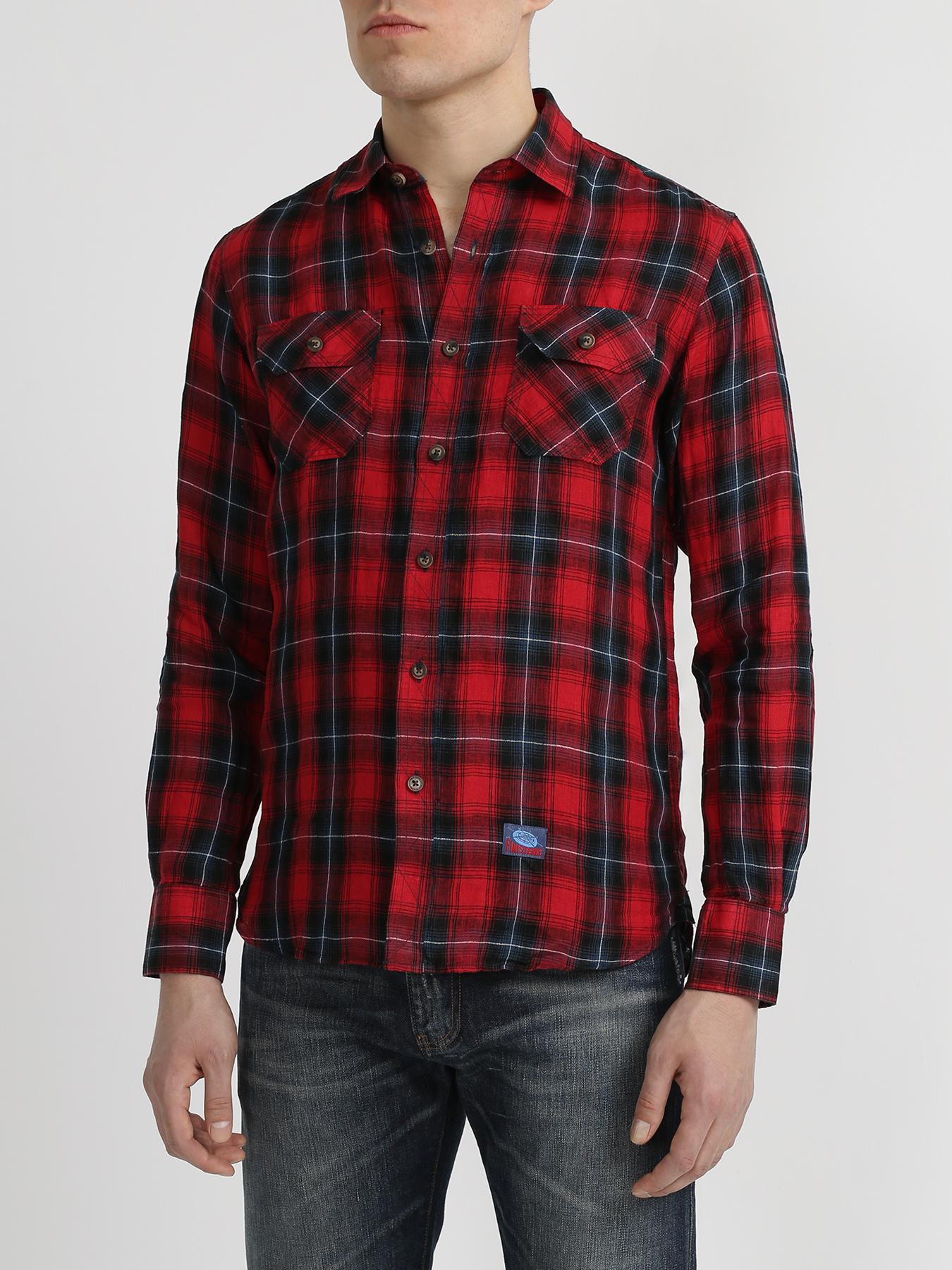 Рубашки Finisterre Льняная рубашка в клетку