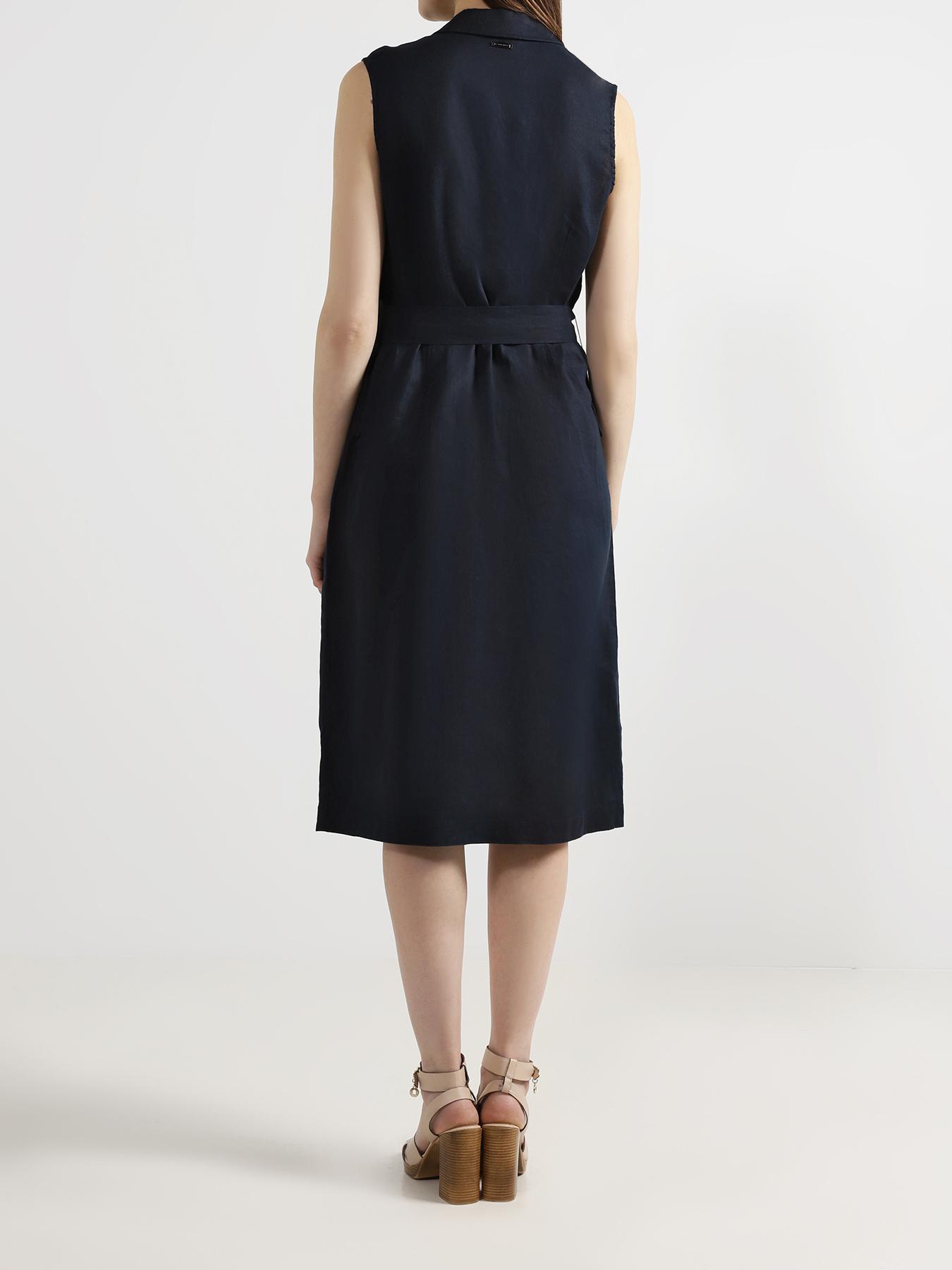 Платье Alessandro Manzoni Платье с поясом полуприлегающее платье с длинным поясом cavo