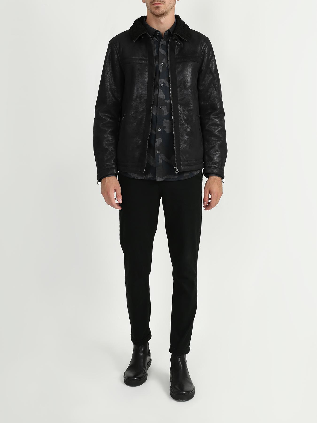 Куртка Armani Exchange Мужская дубленка 12storeez дубленка с лацканами бежевый