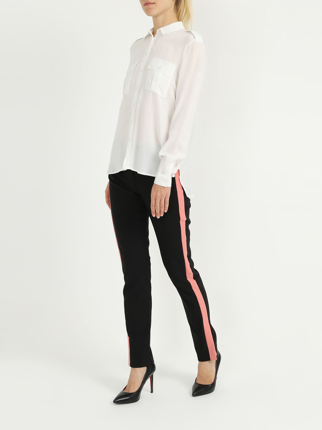 Брюки Armani Exchange Узкие брюки с полосками по бокам