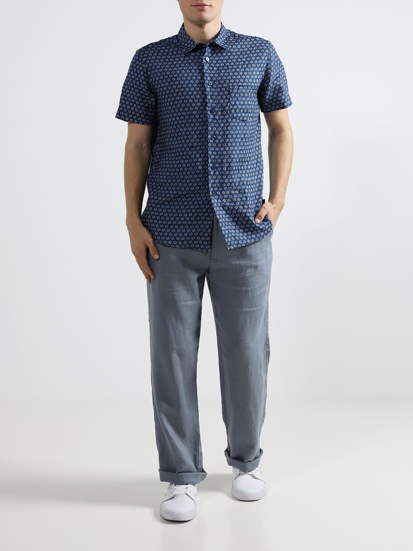 Alessandro Manzoni Jeans Льняные брюки фото