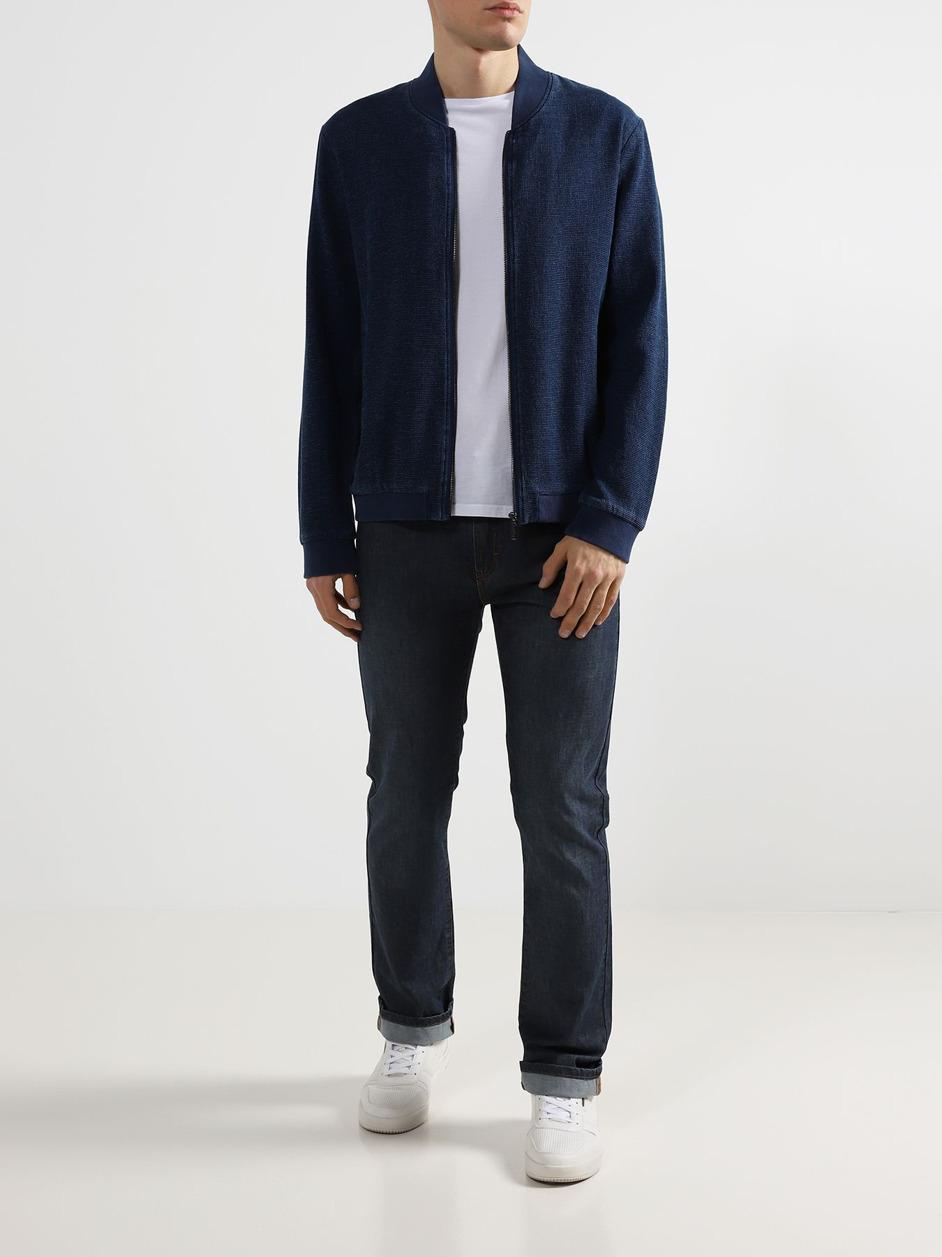 Куртка Alessandro Manzoni Jeans Джинсовый бомбер