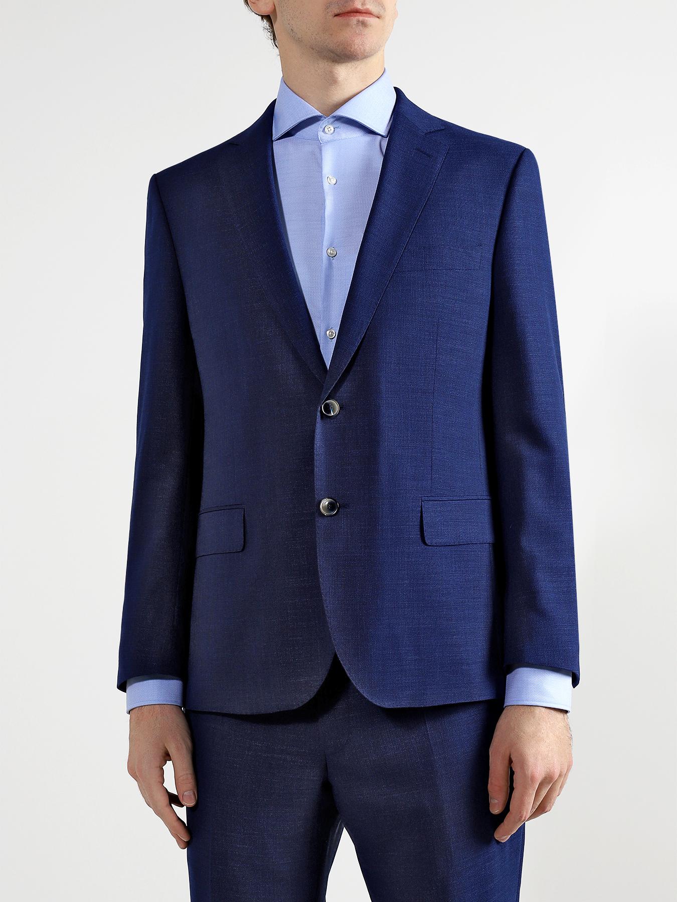 Alessandro Manzoni Классический костюм из шелка и шерсти фото