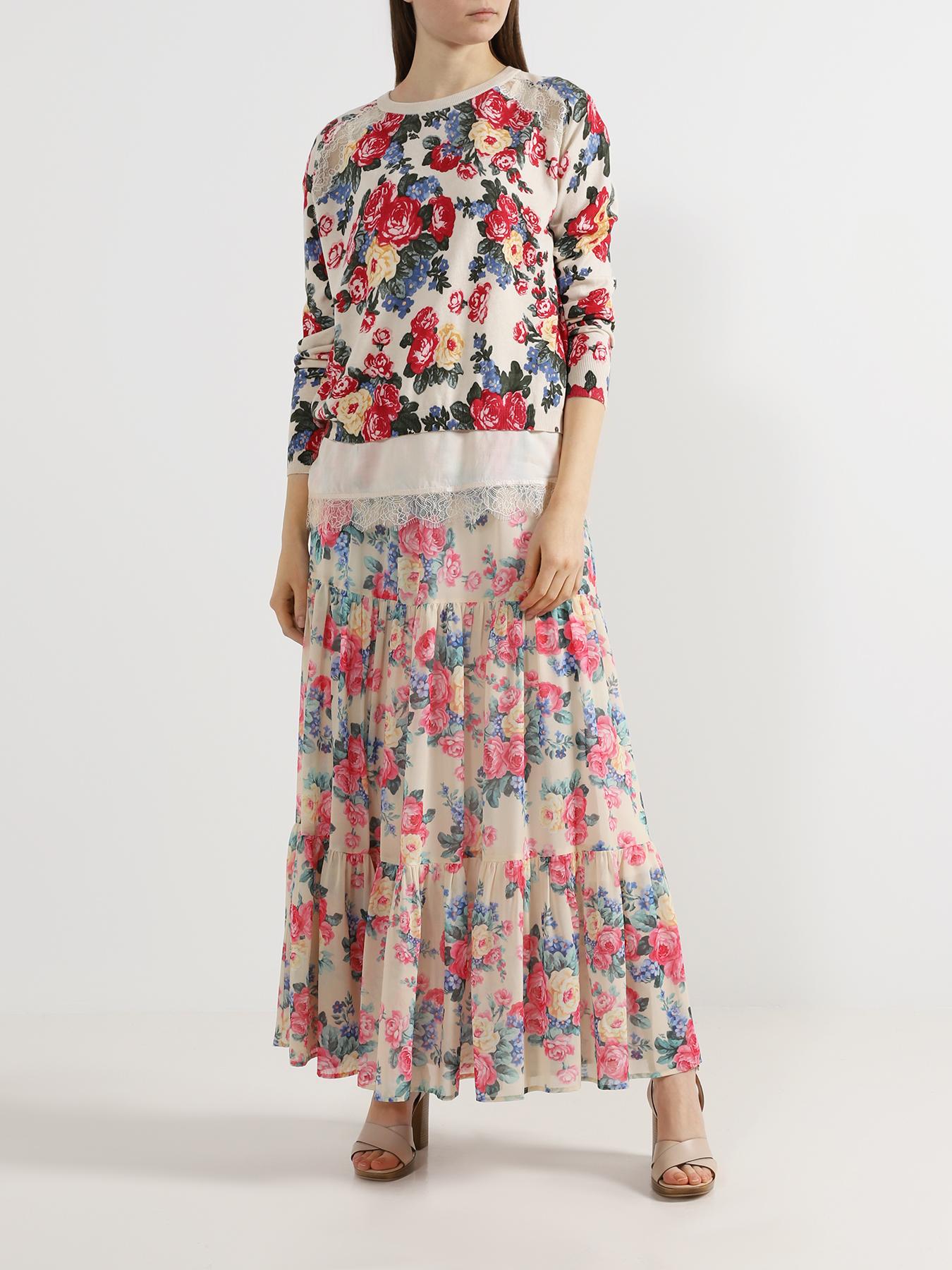 Юбка My Twin Twinset Юбка с цветочными узорами twin set lingerie длинная юбка