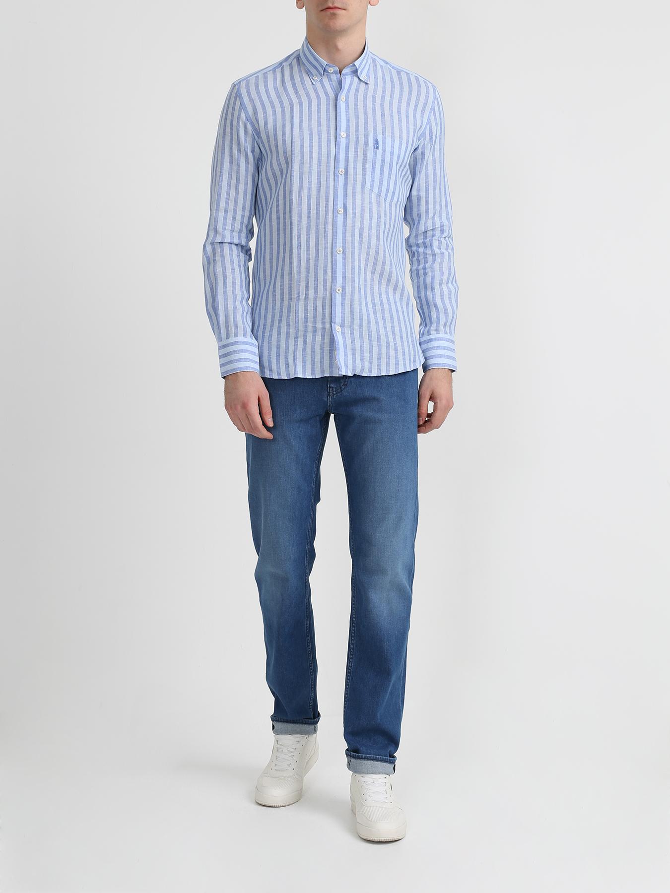 Рубашка Finisterre Льняная рубашка в полоску