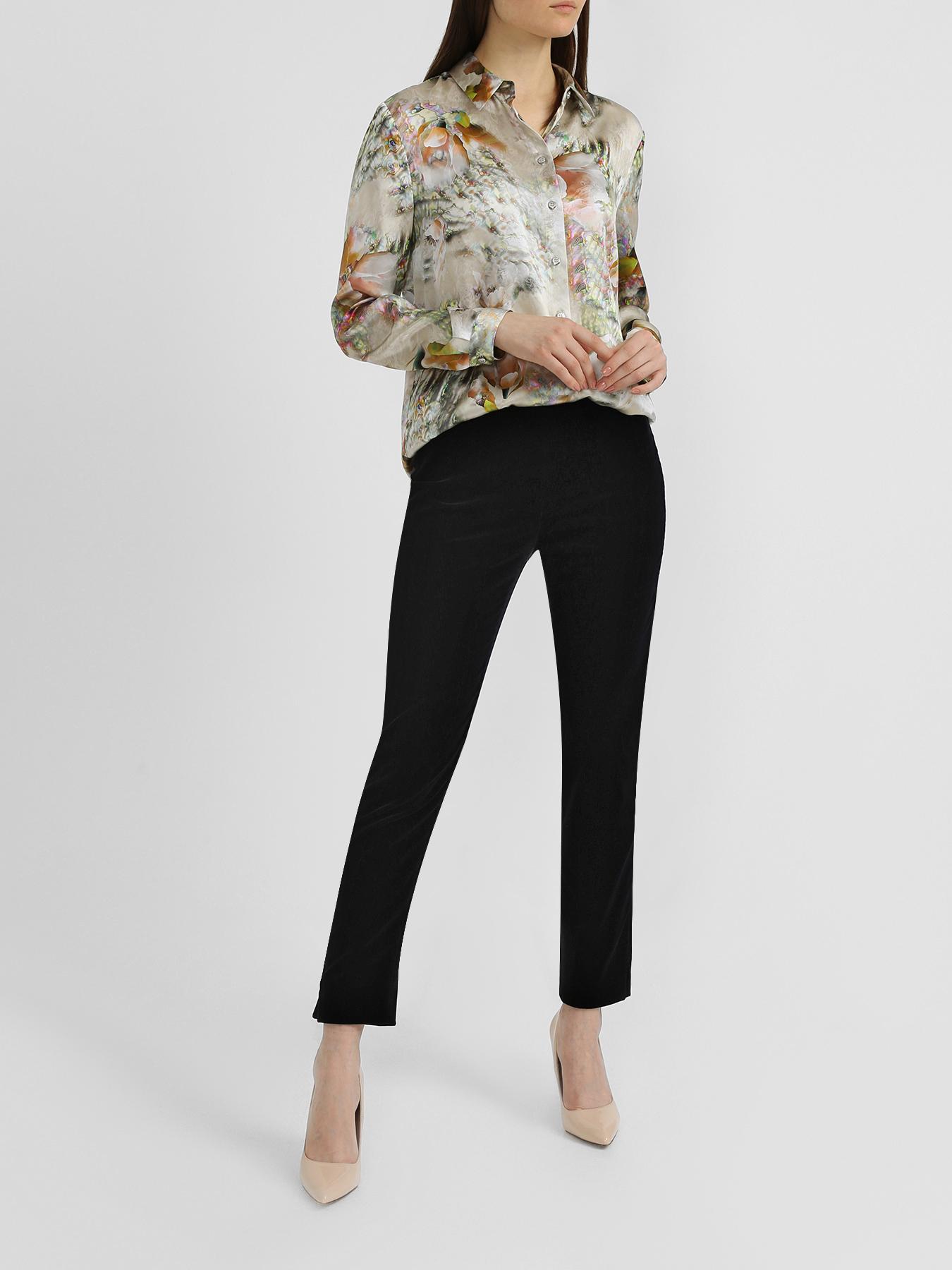 Блузка Korpo Collezioni Шелковая рубашка с цветочным узором