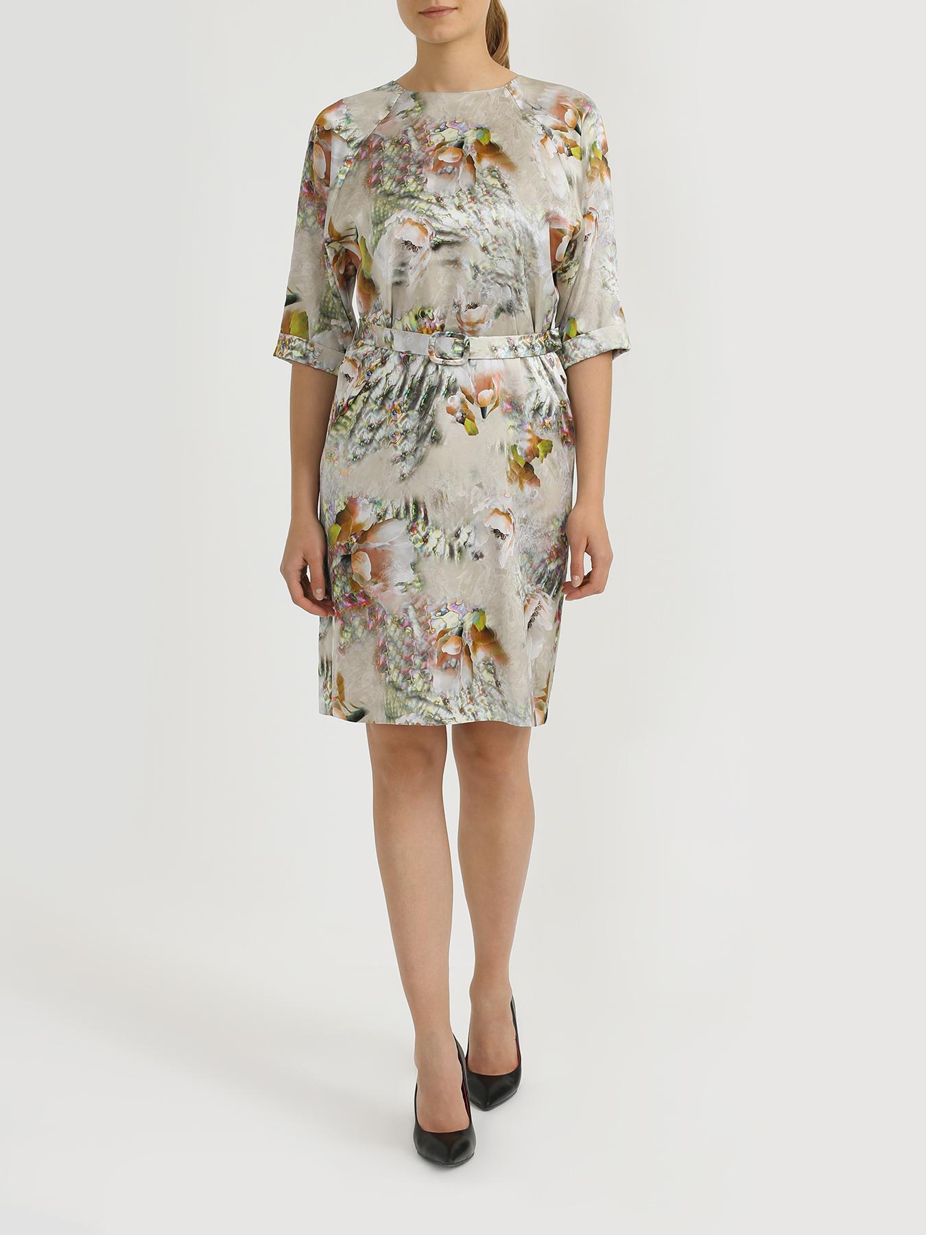 Korpo Collezioni Шелковое платье с цветочным узором фото