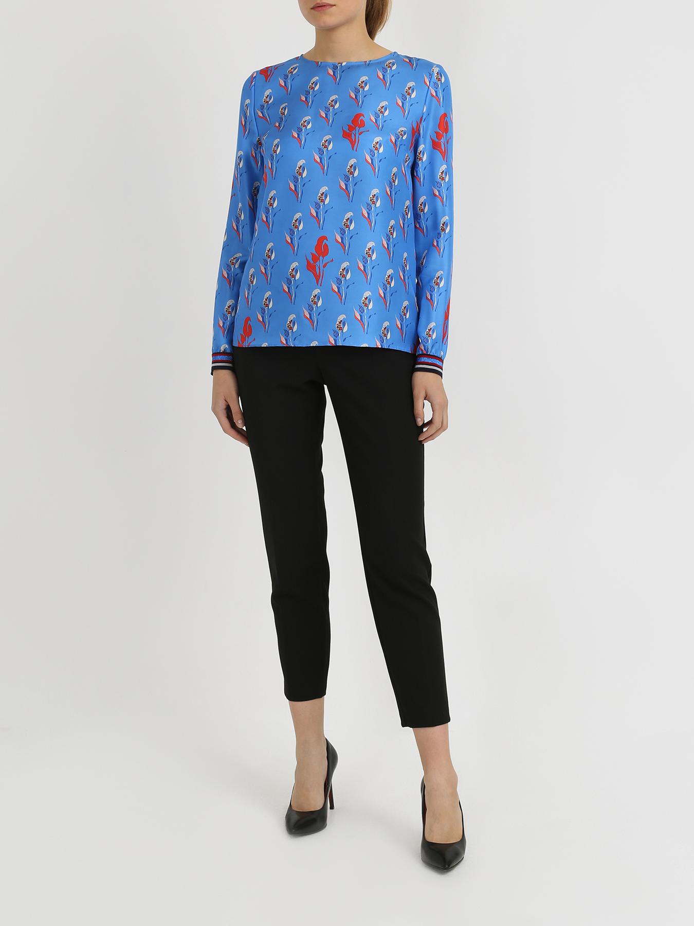 Korpo Шелковая блузка с цветочным узором фото