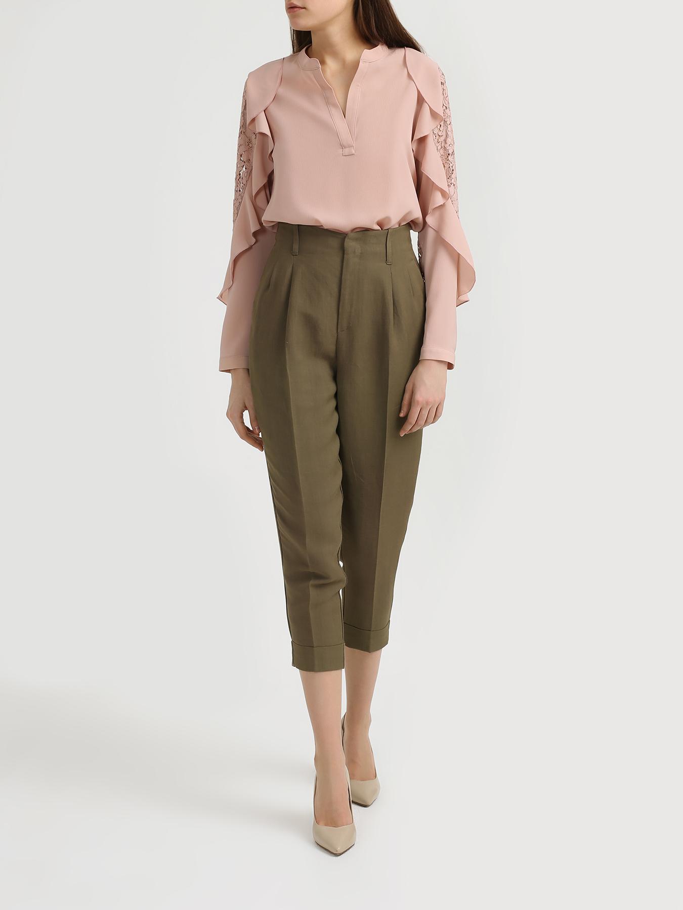 Брюки TWINSET MILANO Однотонные брюки джинсы twinset milano twinset milano tw008ewbwph2