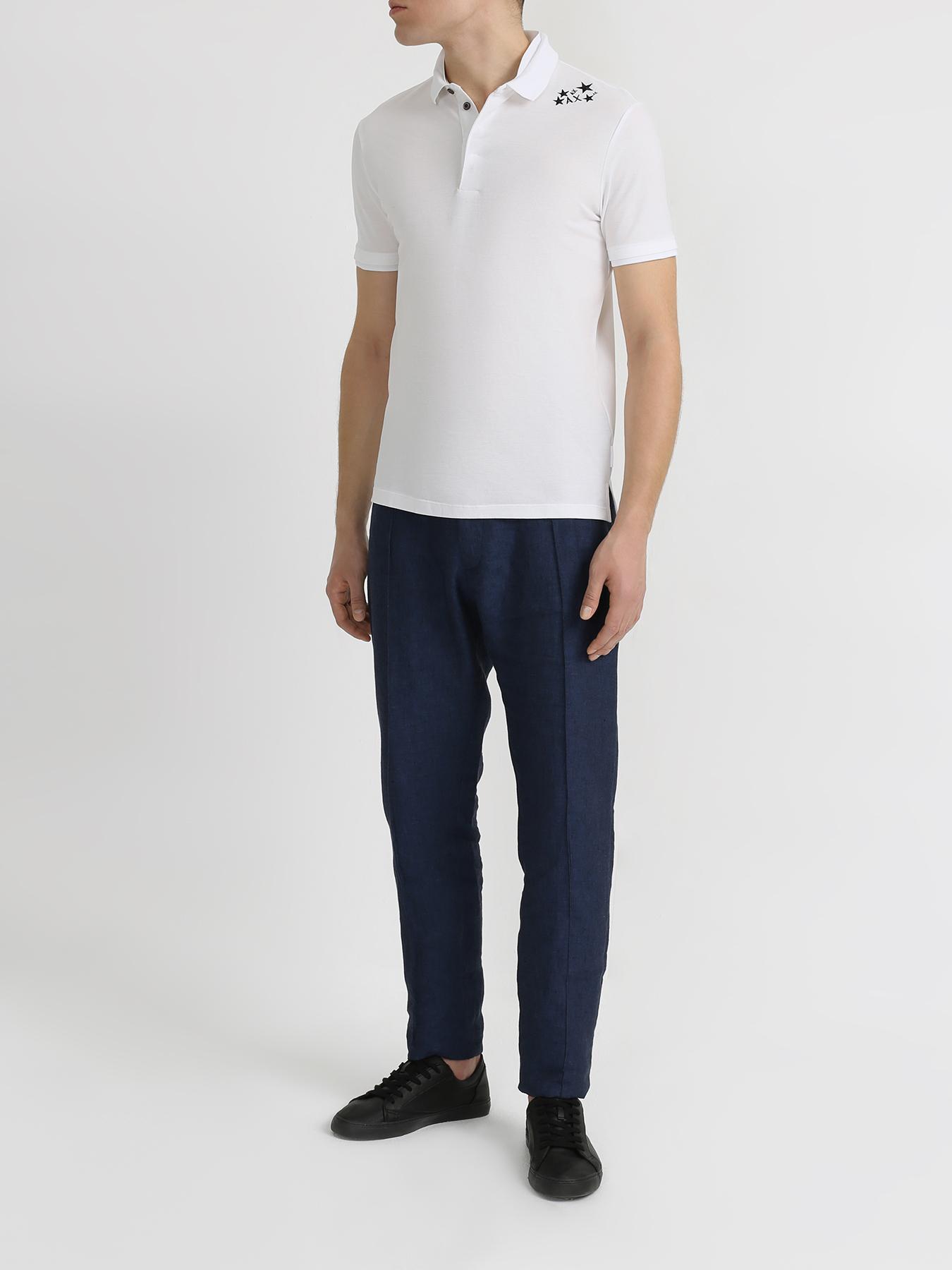Брюки Emporio Armani Льняные брюки на резинке