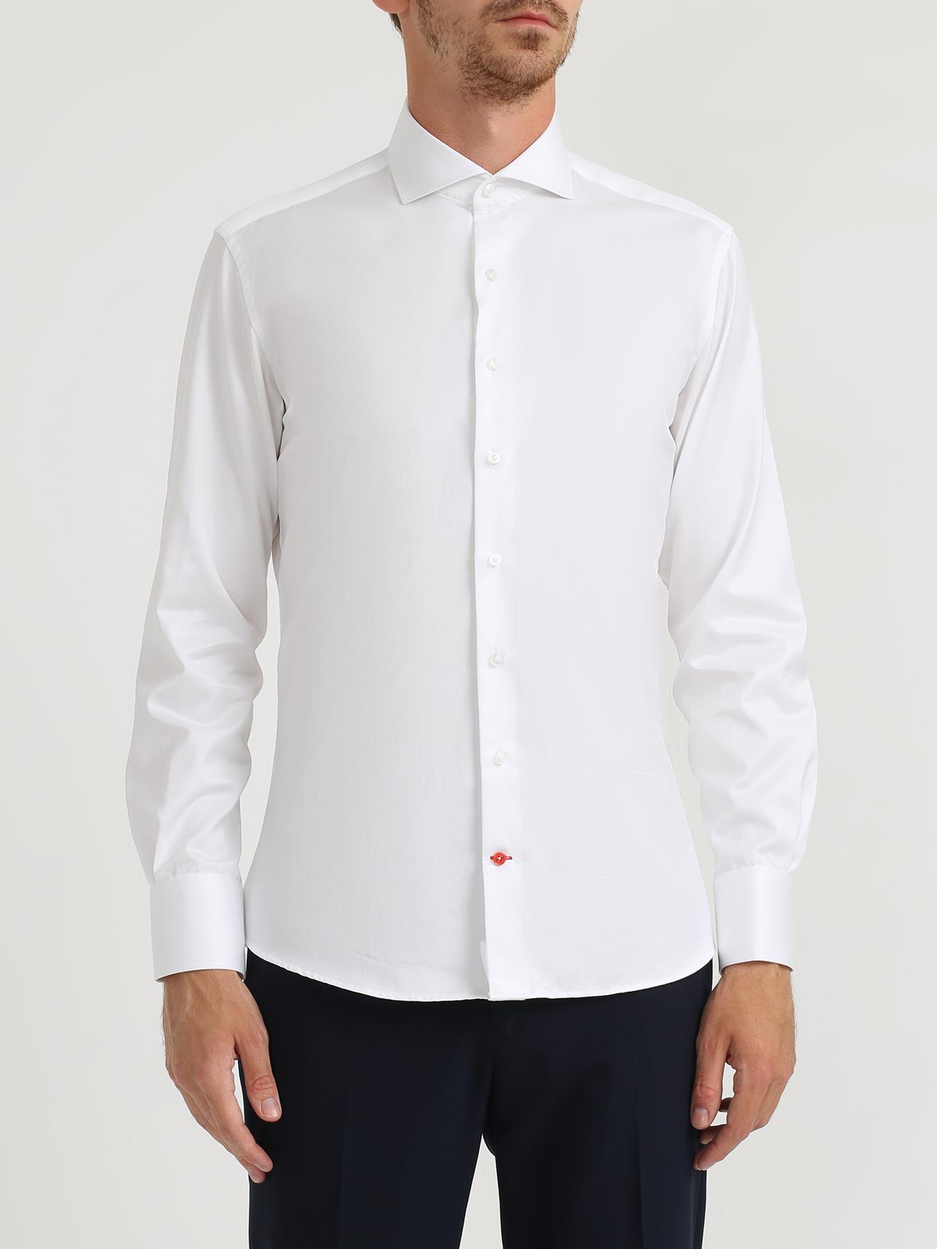 Рубашки Alessandro Manzoni Хлопковая рубашка с длинным рукавом рубашка alessandro manzoni хлопковая рубашка с длинным рукавом