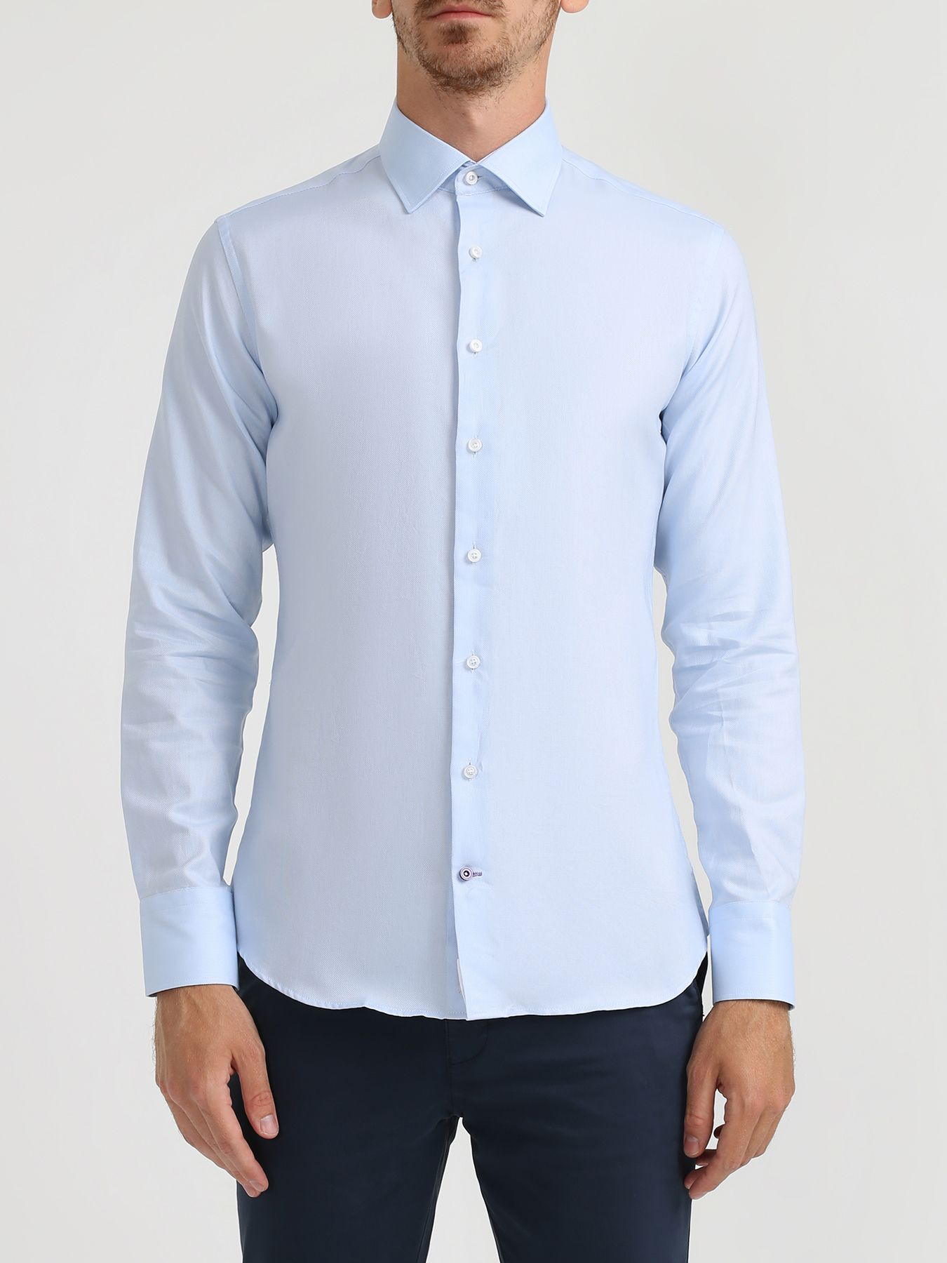 Рубашки Alessandro Manzoni Хлопковая рубашка с длинным рукавом