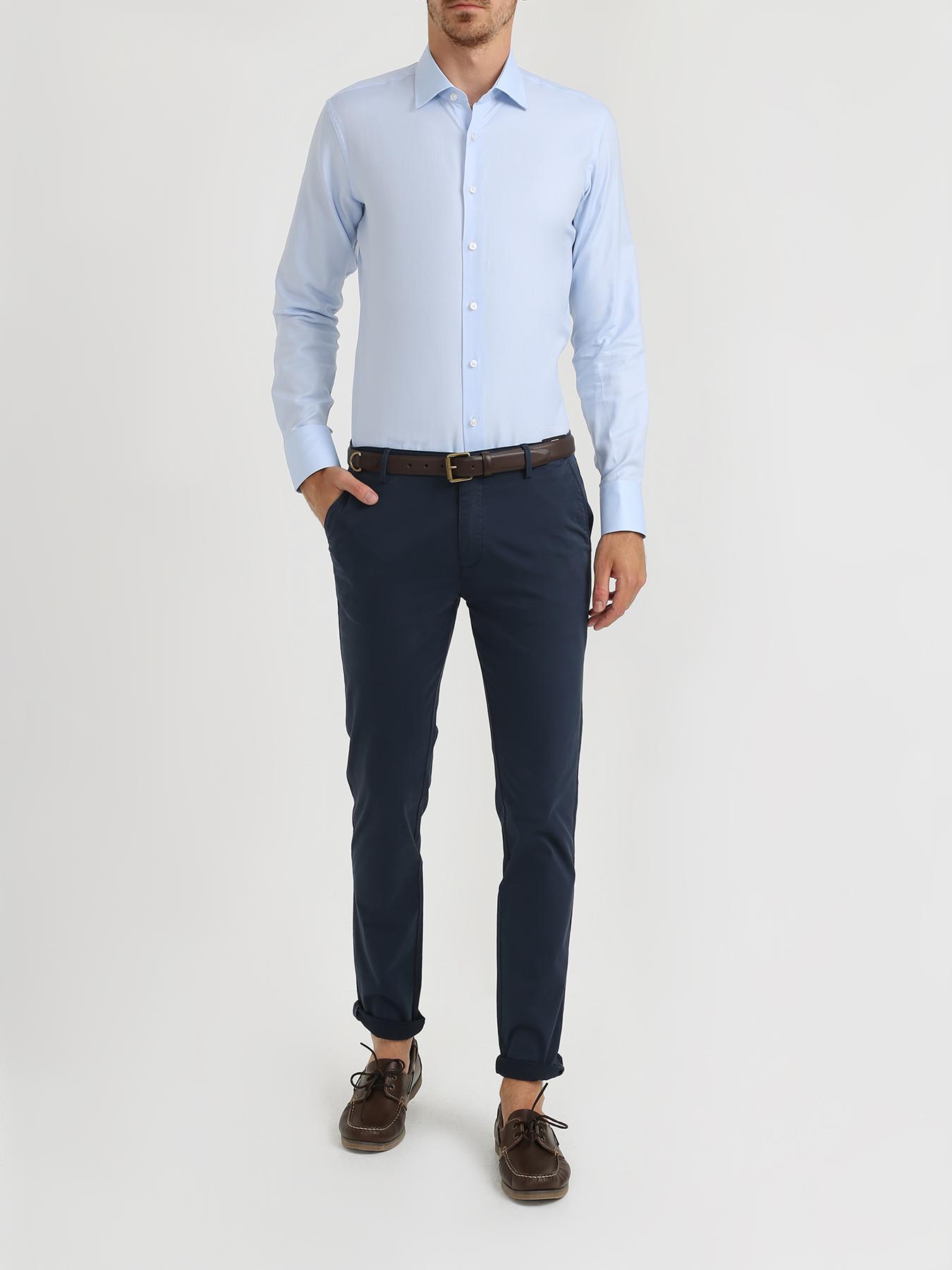 Рубашка Alessandro Manzoni Хлопковая рубашка с длинным рукавом