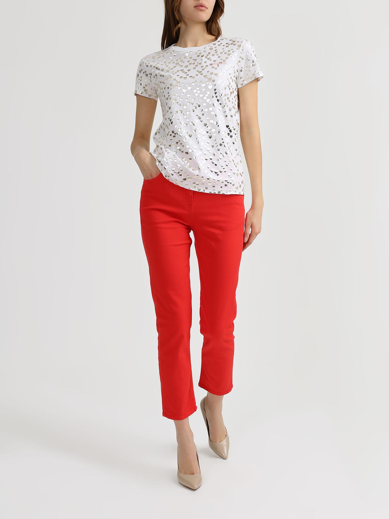 Брюки Patrizia Pepe Укороченные джинсы джинсы patrizia pepe размер 152 0325 белый зеленый