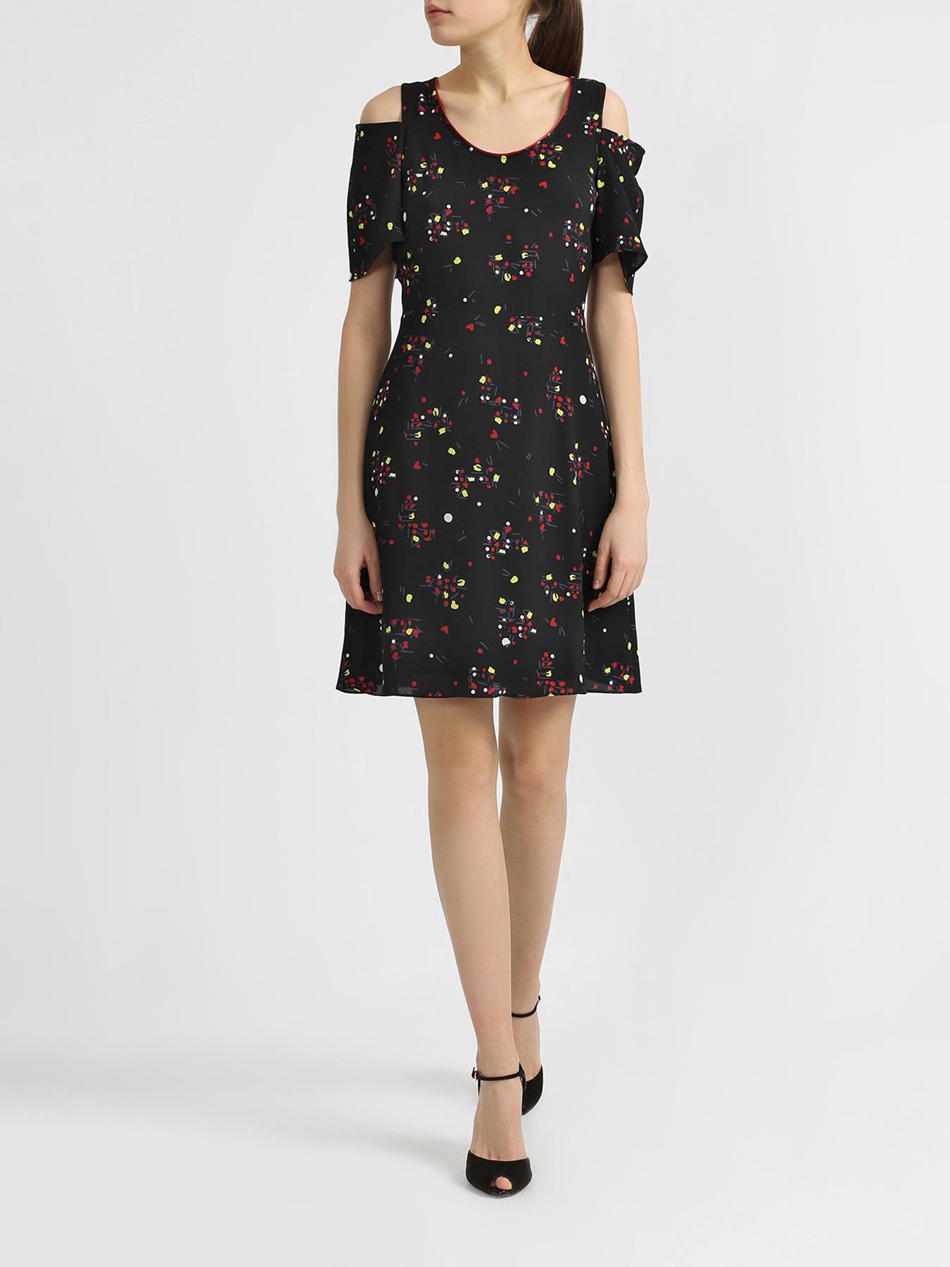 Платье Armani Exchange Платье с разрезами на рукавах