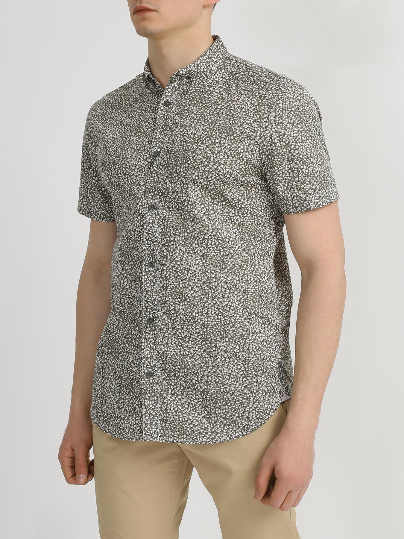 Armani Exchange Armani Exchange Хлопковая рубашка с коротким рукавом