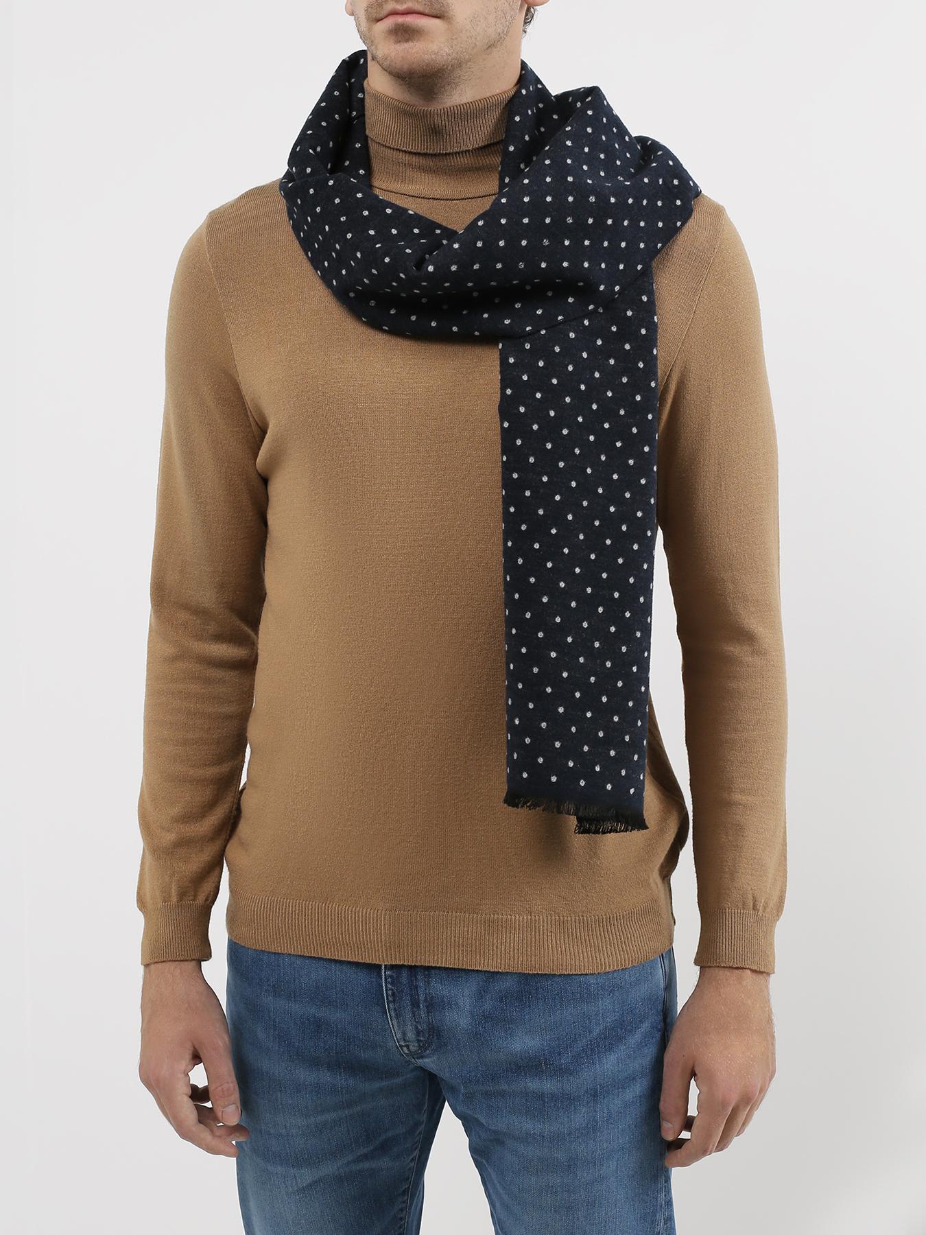 Шарф Alessandro Manzoni Jeans Мужской шарф в горох