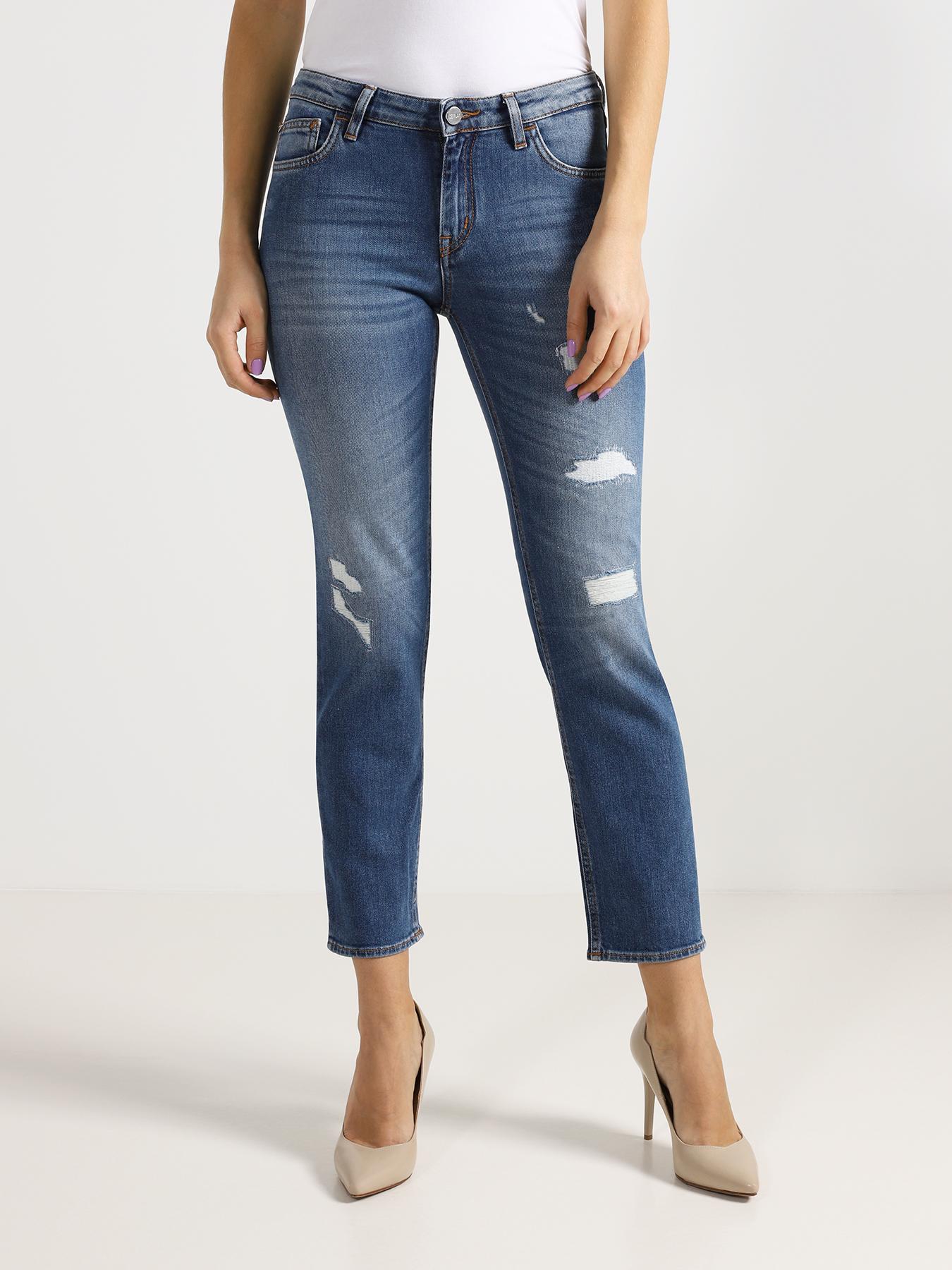 Джинсы Ice Play Зауженные джинсы с потертостями