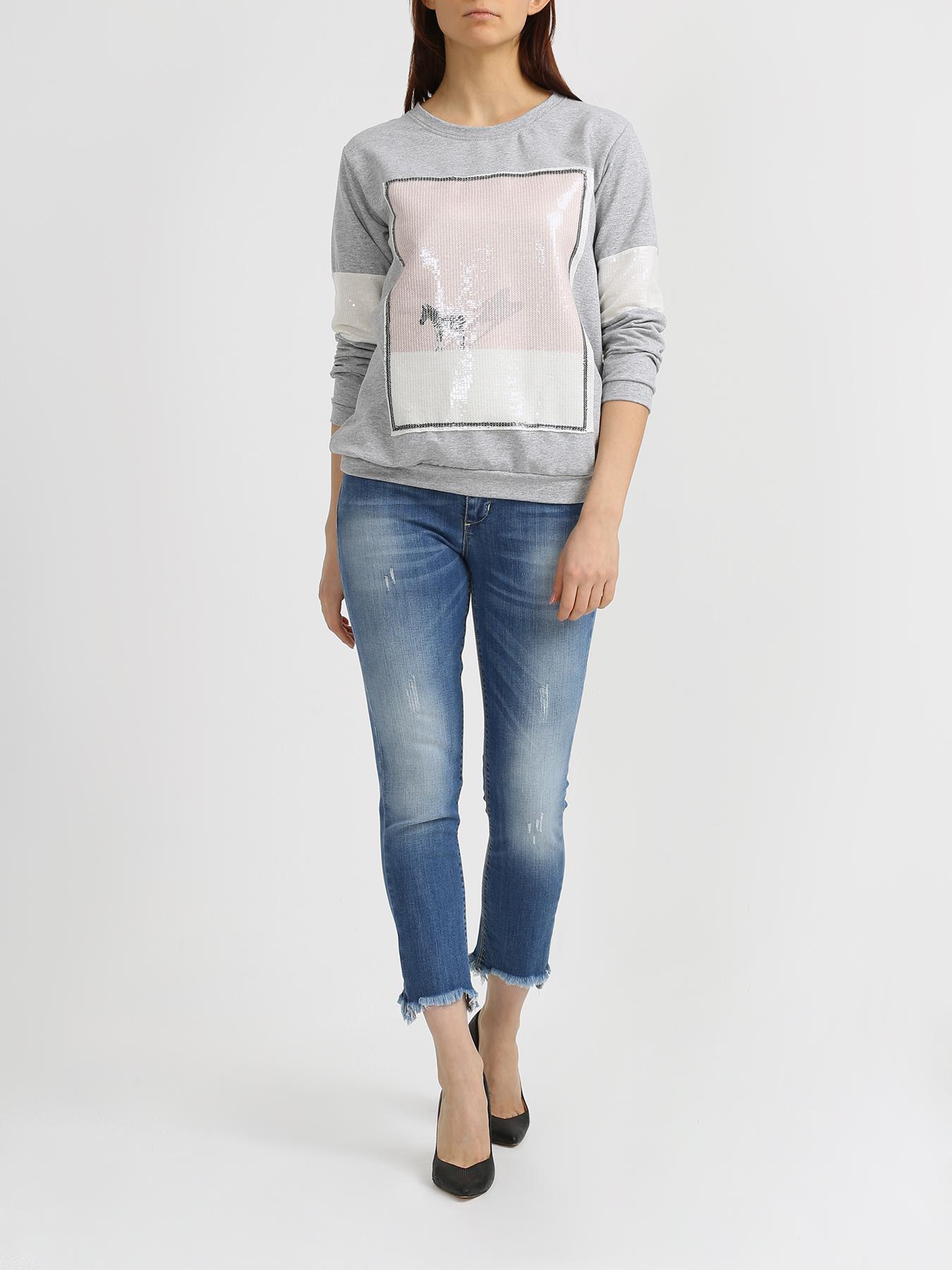 Брюки Rinascimento Укороченные джинсы брюки rinascimento прямые джинсы