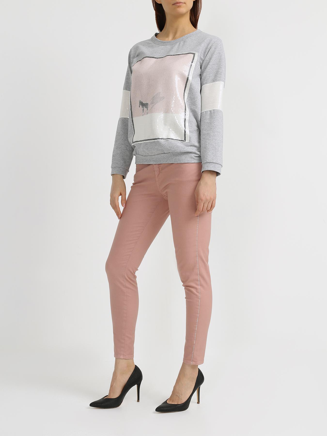 Брюки Rinascimento Зауженные джинсы брюки rinascimento прямые джинсы