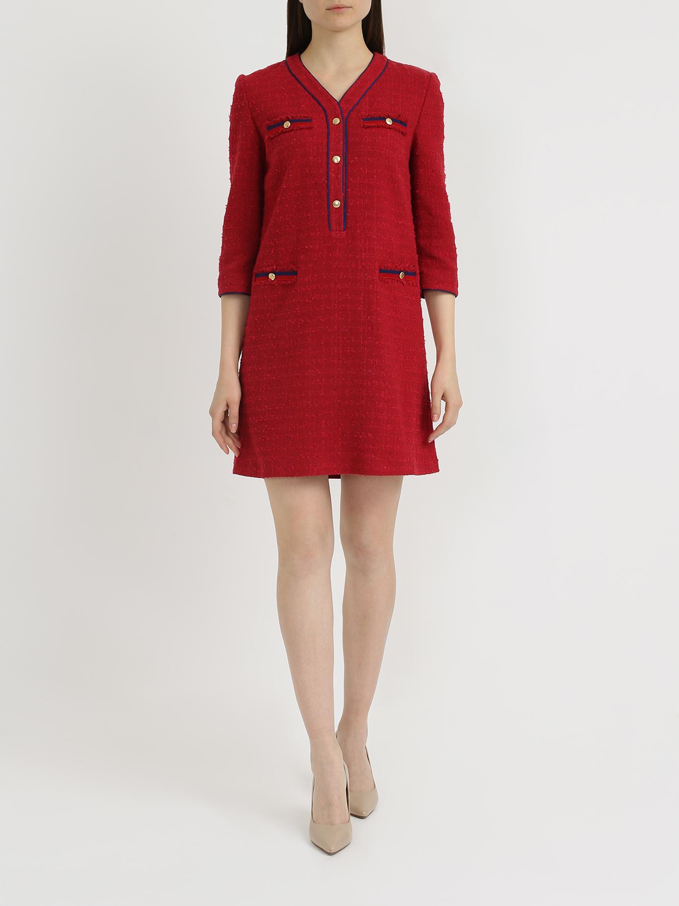 Платье Korpo Two Платье с V-образным вырезом v neck ribbed two tone sweater