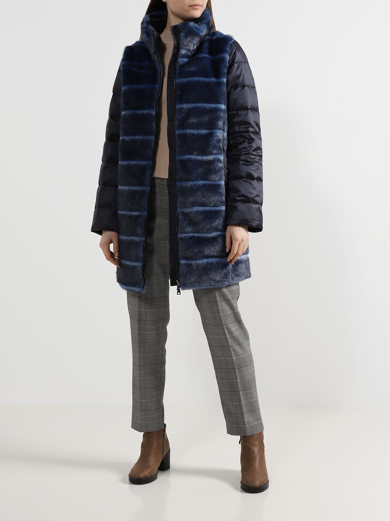Полупальто ORSA Couture Пуховик с мехом
