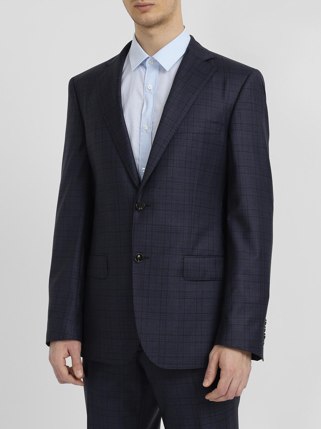 Alessandro Manzoni Классический костюм из шерсти фото