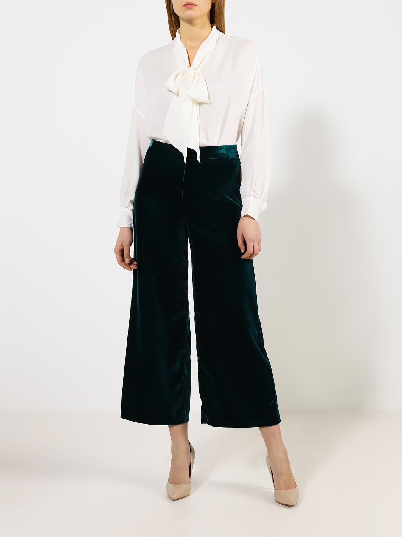 Блузка Polo Ralph Lauren Однотонная блузка с бантом bonpoint бархатный ремень с бантом ecnoeud