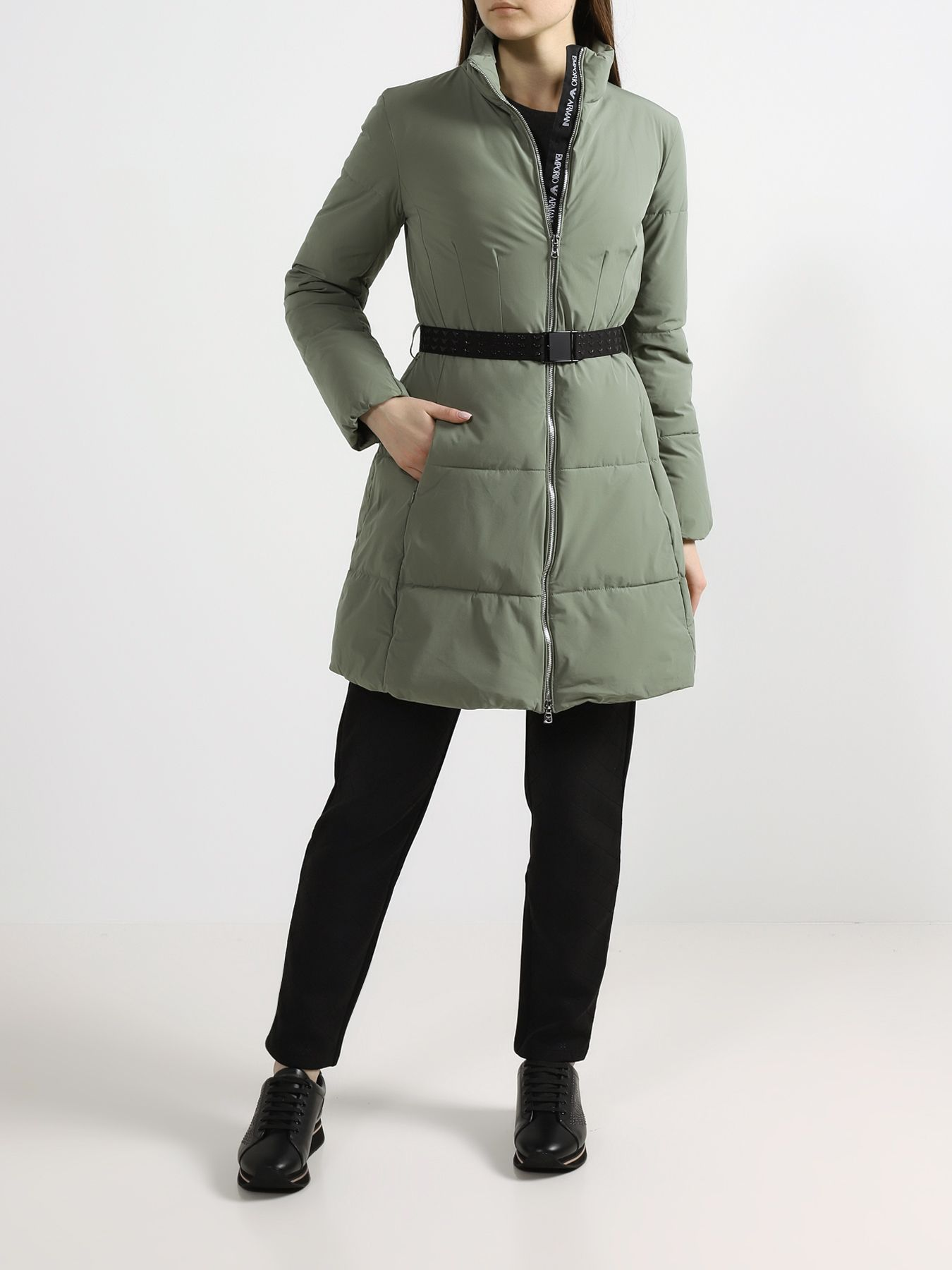 Пальто Emporio Armani Удлиненная куртка пальто emporio armani черный