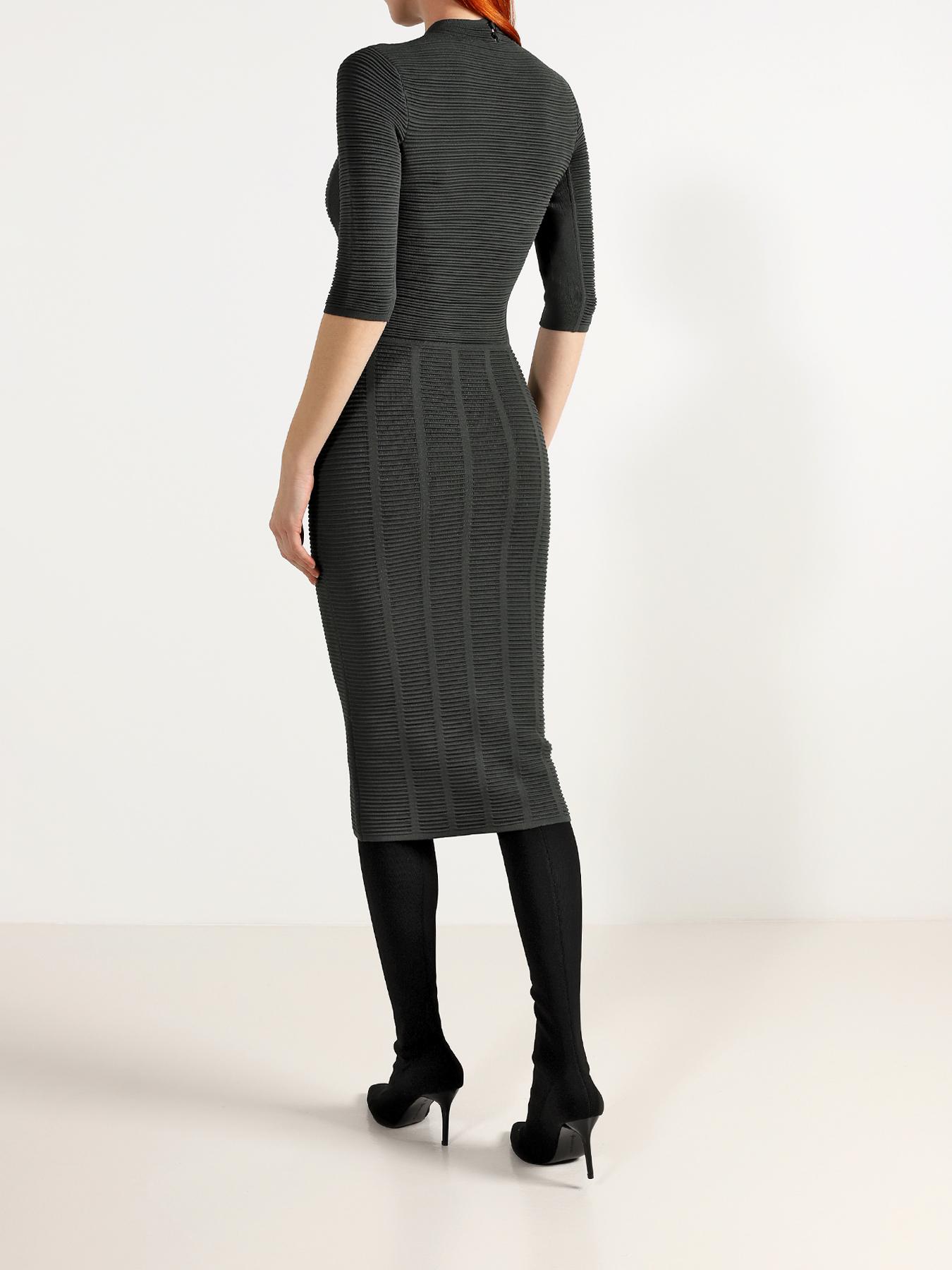 Платье Emporio Armani Зауженное платье легкое асимметричное платье emporio armani
