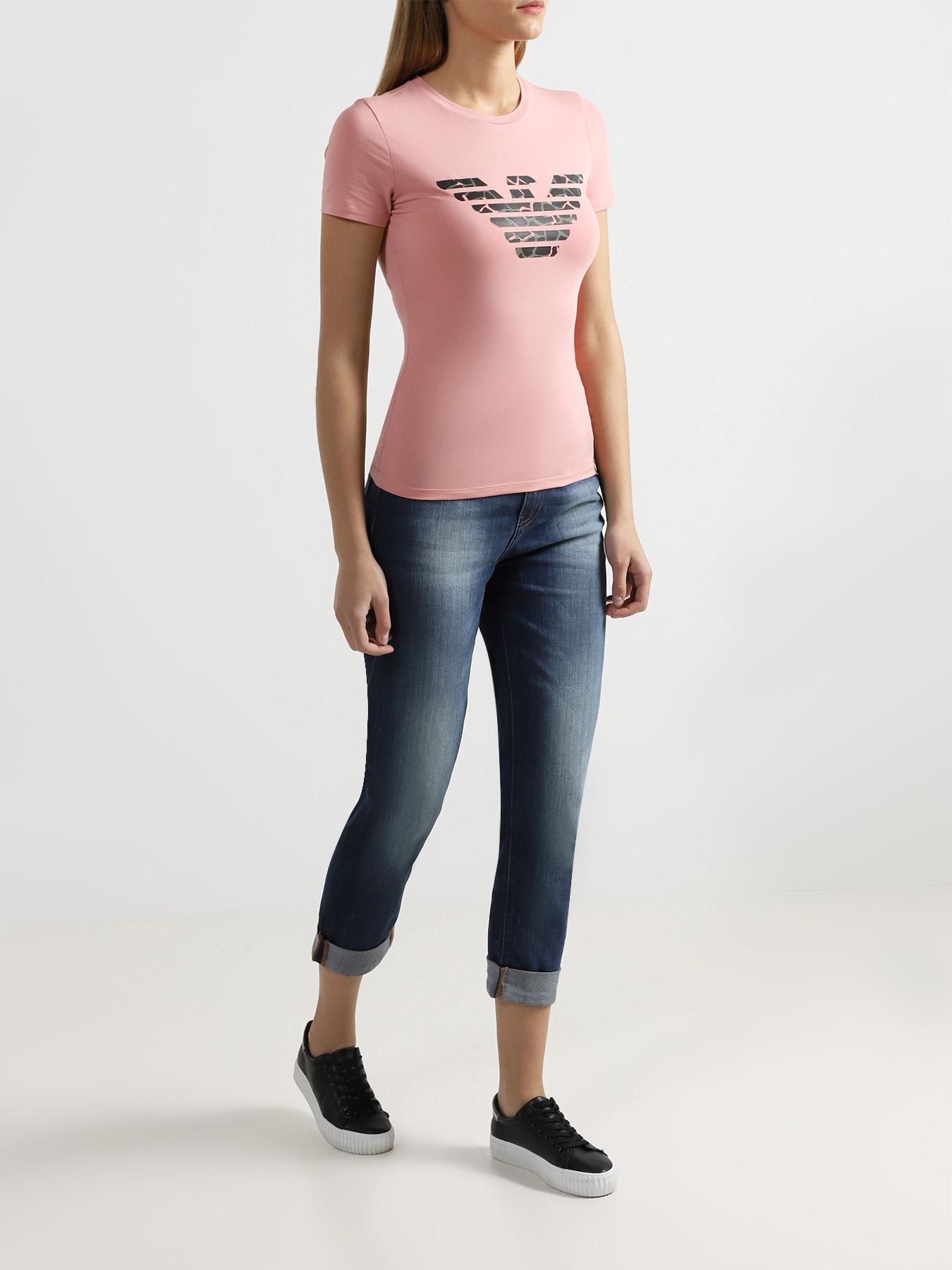 Фуфайка Emporio Armani Женская футболка толстовка женская велюровая emporio armani page 6