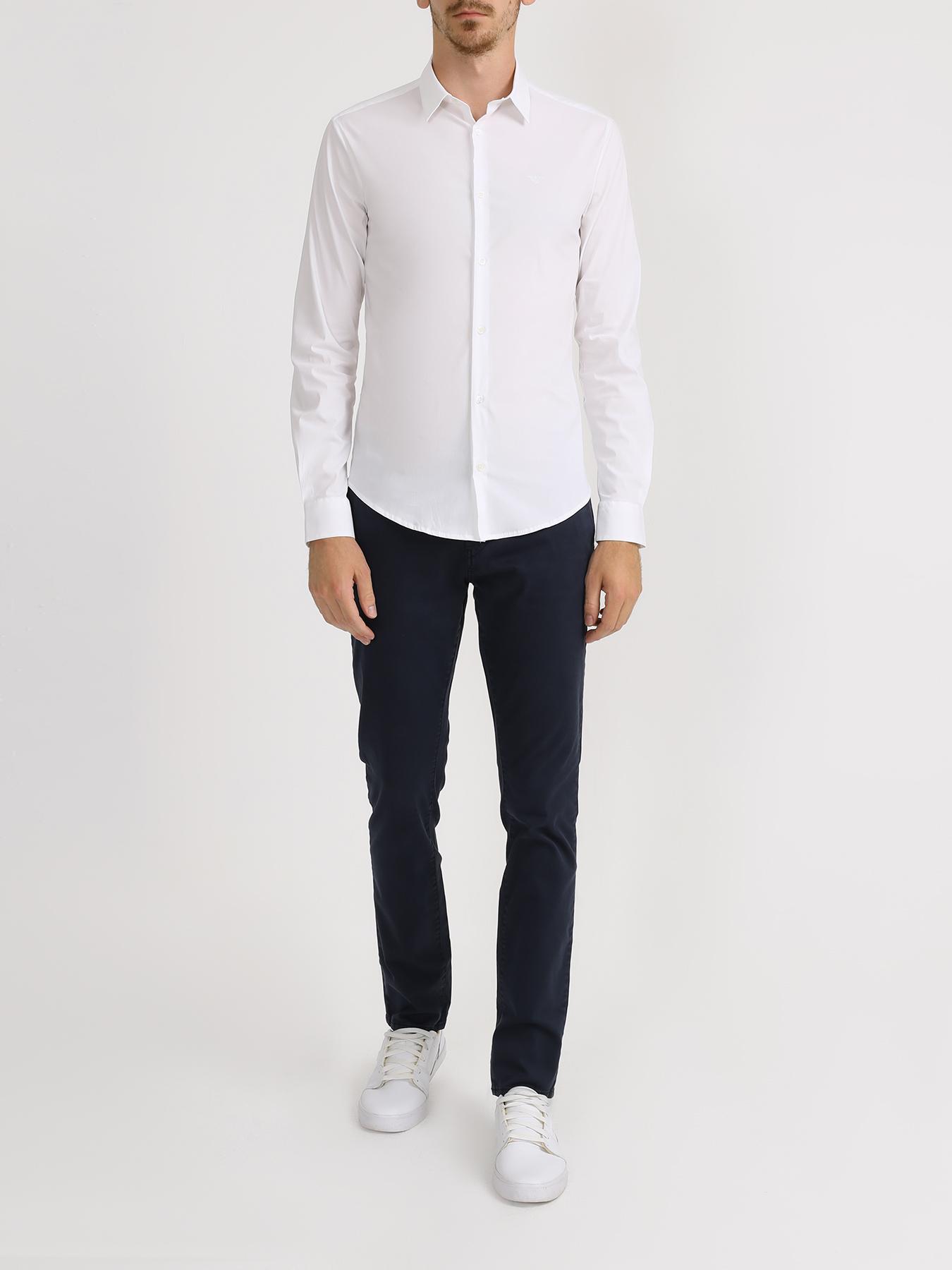 Рубашка Emporio Armani Однотонная рубашка