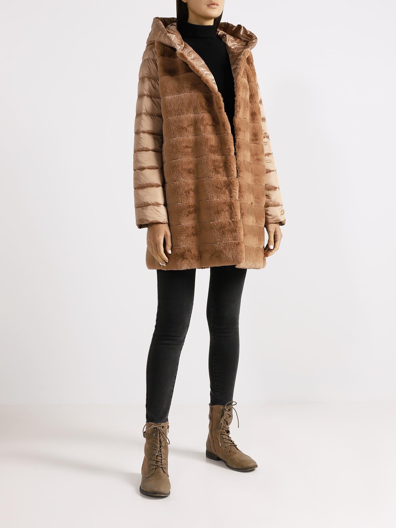 Пальто Emme Marella Куртка с мехом Falena пальто с мехом норки american legend