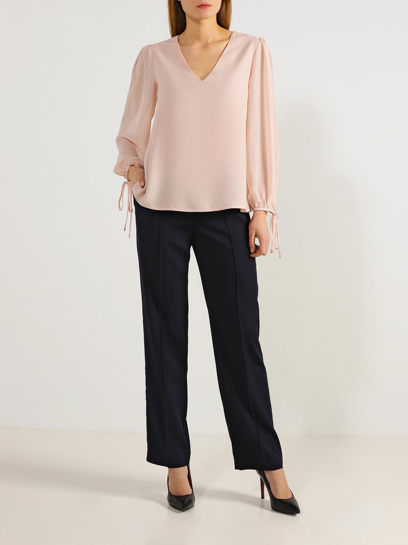 Блузка Liu Jo Однотонная блузка блуза liu jo liu jo li687ewhrij3